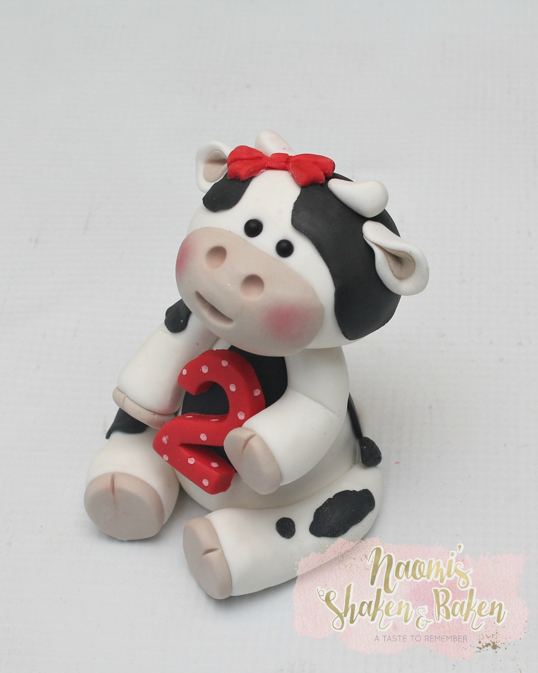 Cow cake topper set