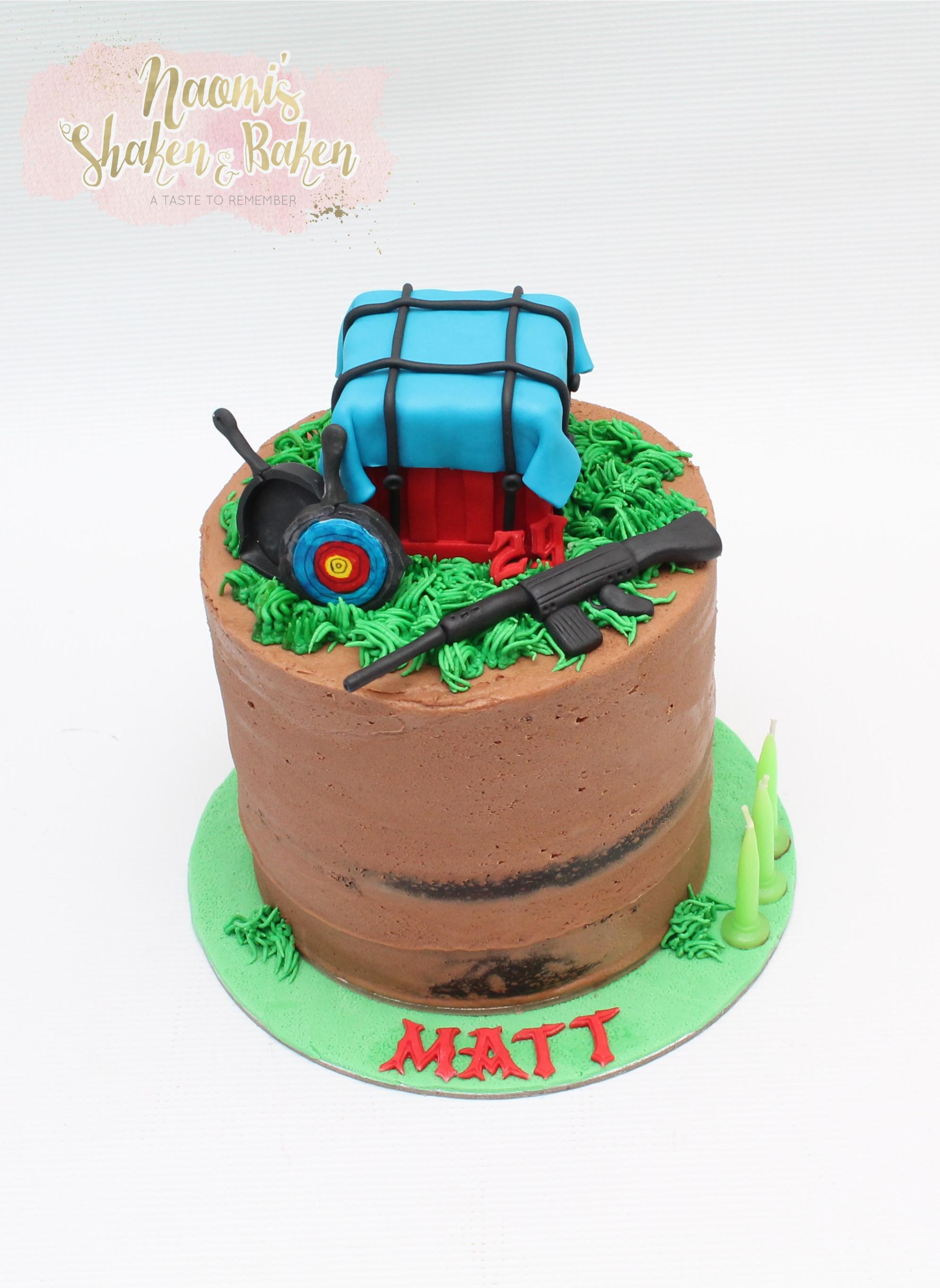 Pubg gaming cake