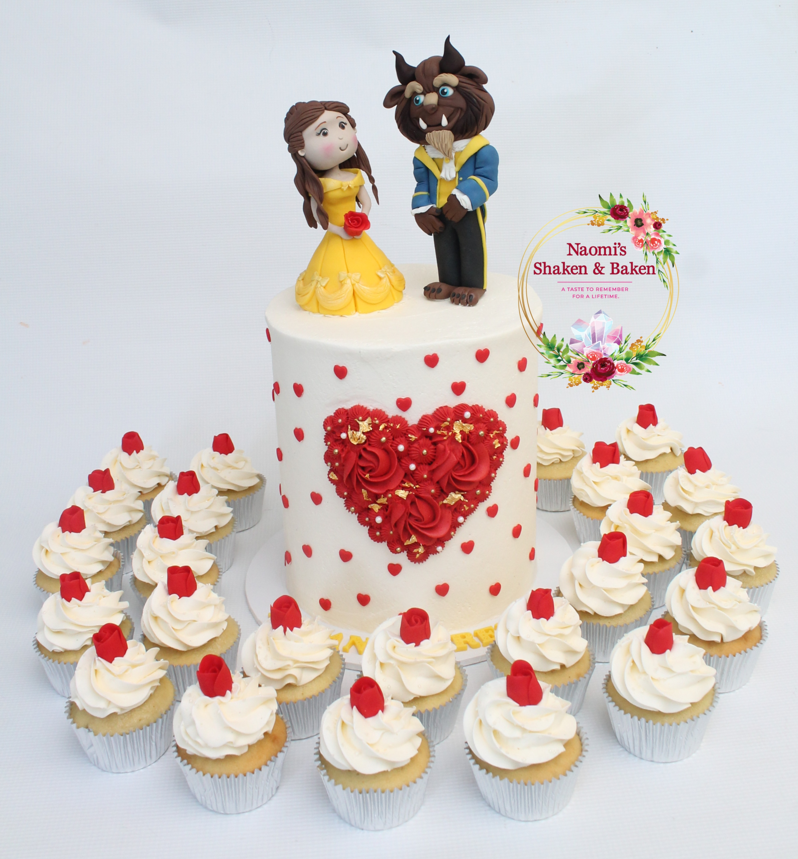 Engagement Cake & Cupcakes