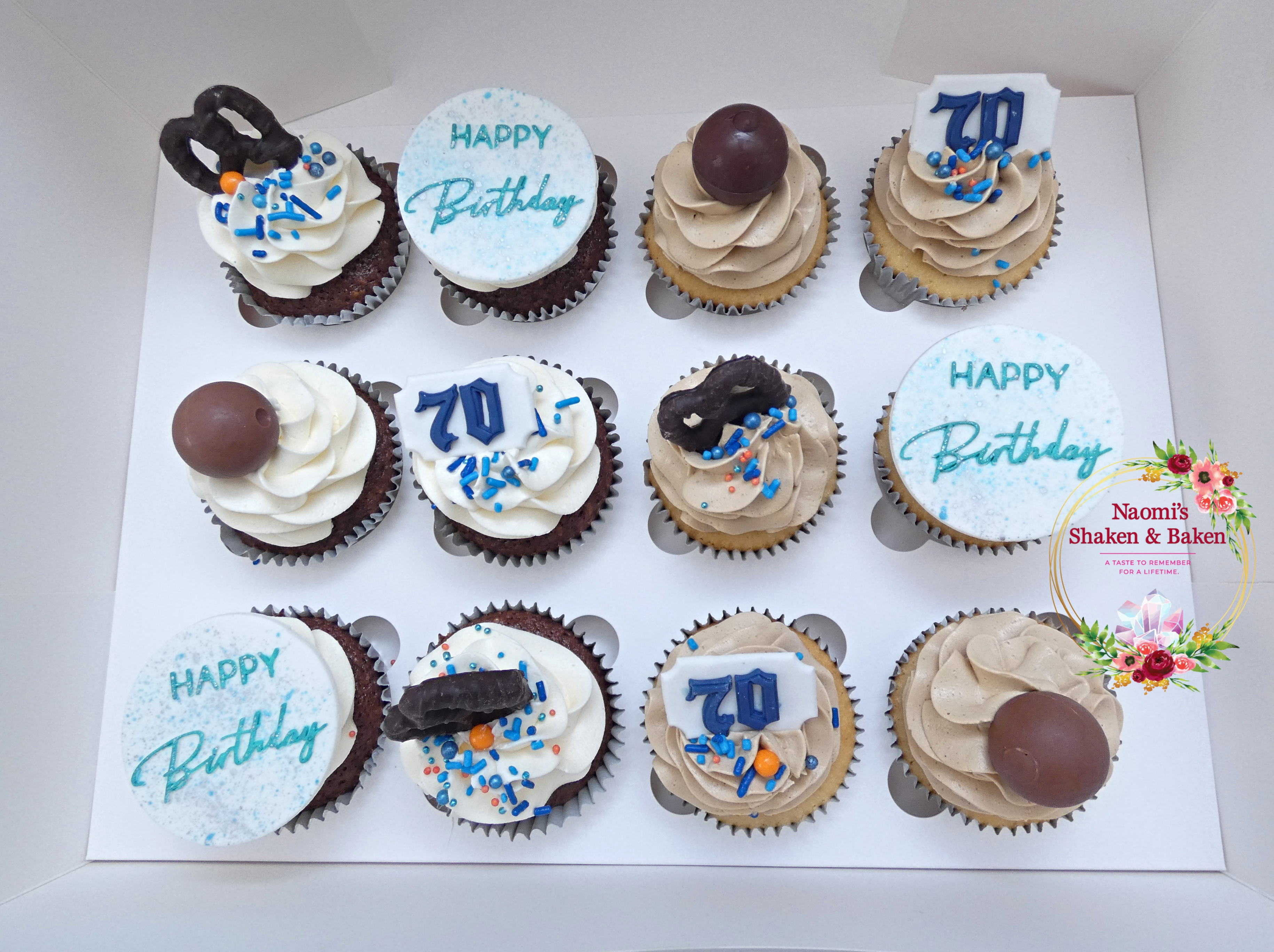 70th Birthday Cupcakes Caboolture NorthLakes