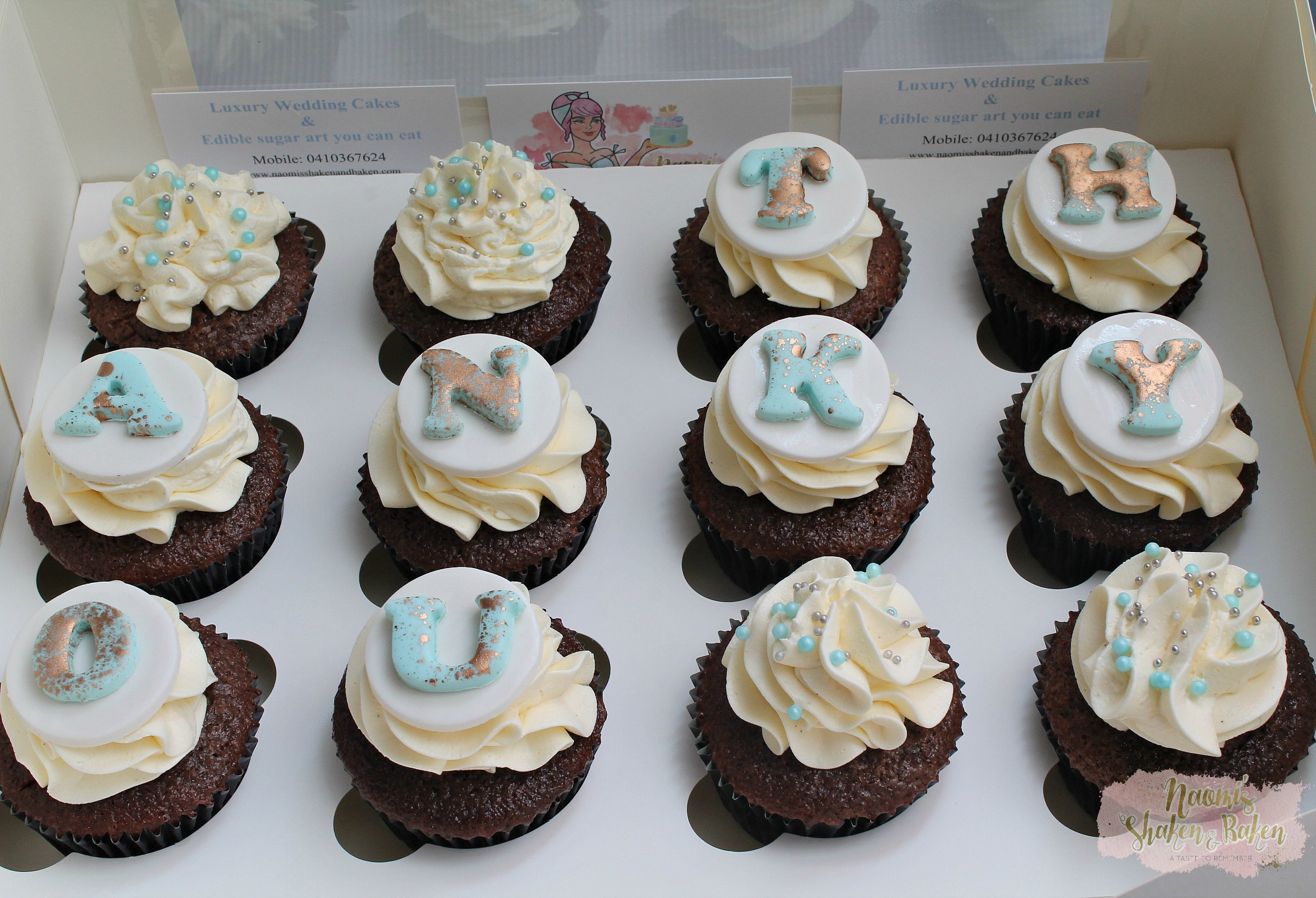 Gift of Thank you cupcakes