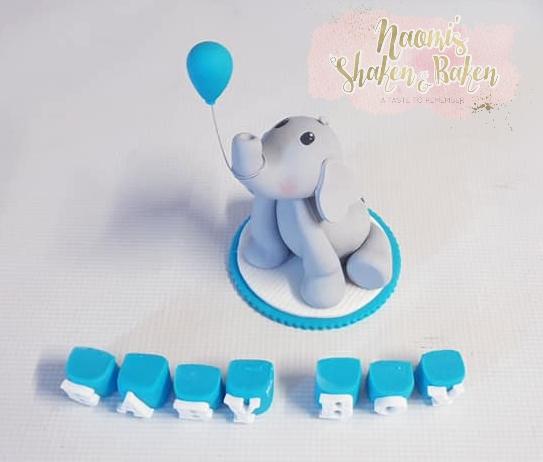 Edible baby boy elephant