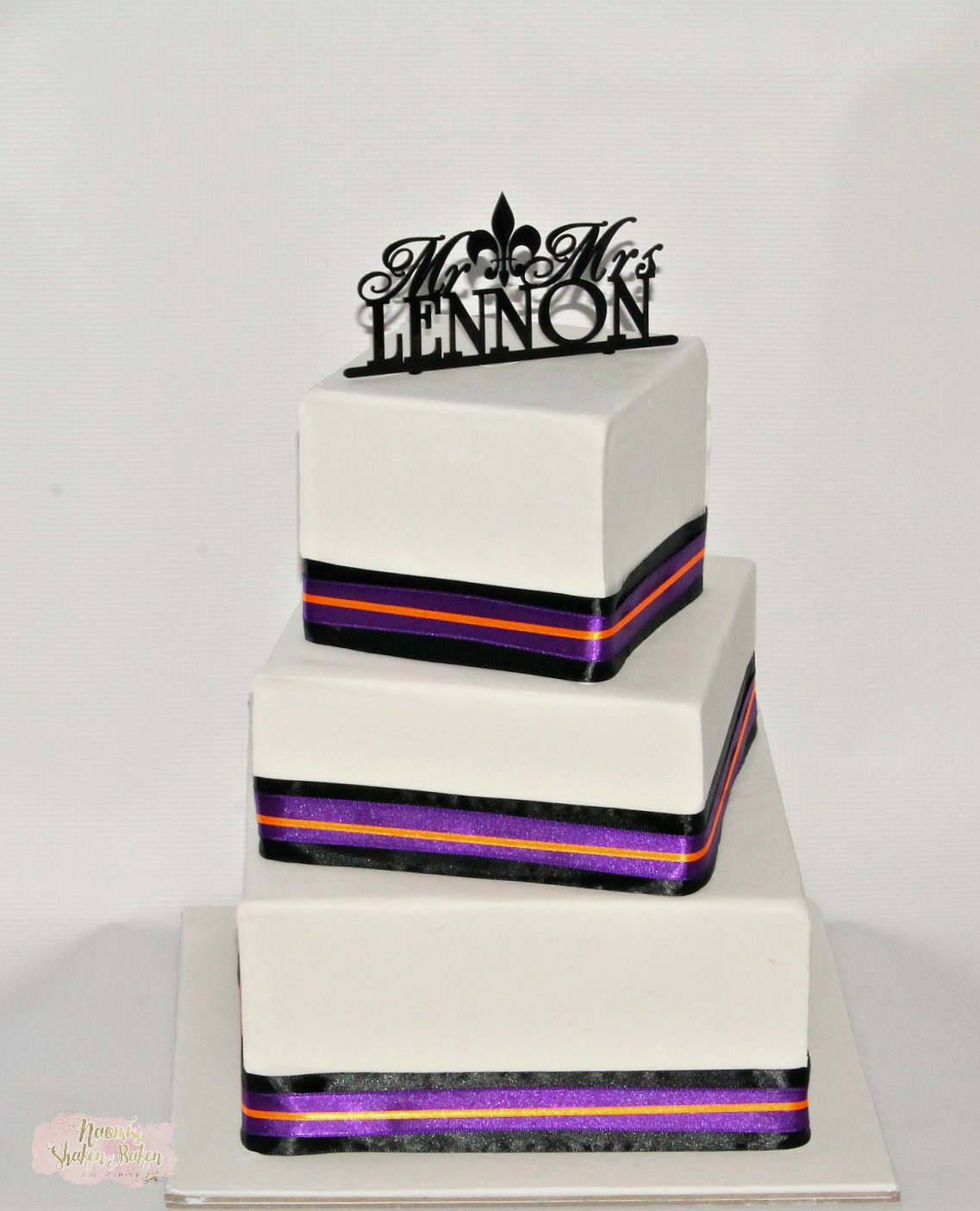 Simple off set wedding cake