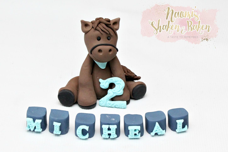 Cute horse cake topper