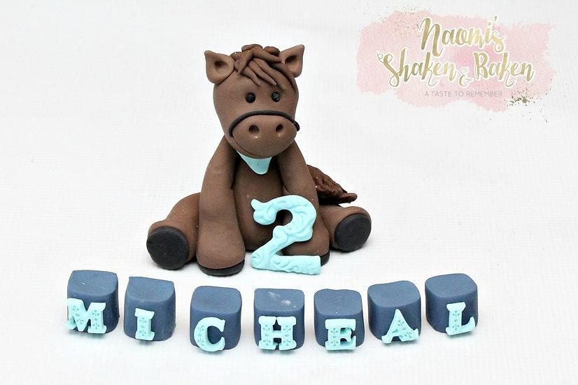 3D Edible Adorable Horse Fondant Cake Topper Set Caboolture Ship Australia Wide