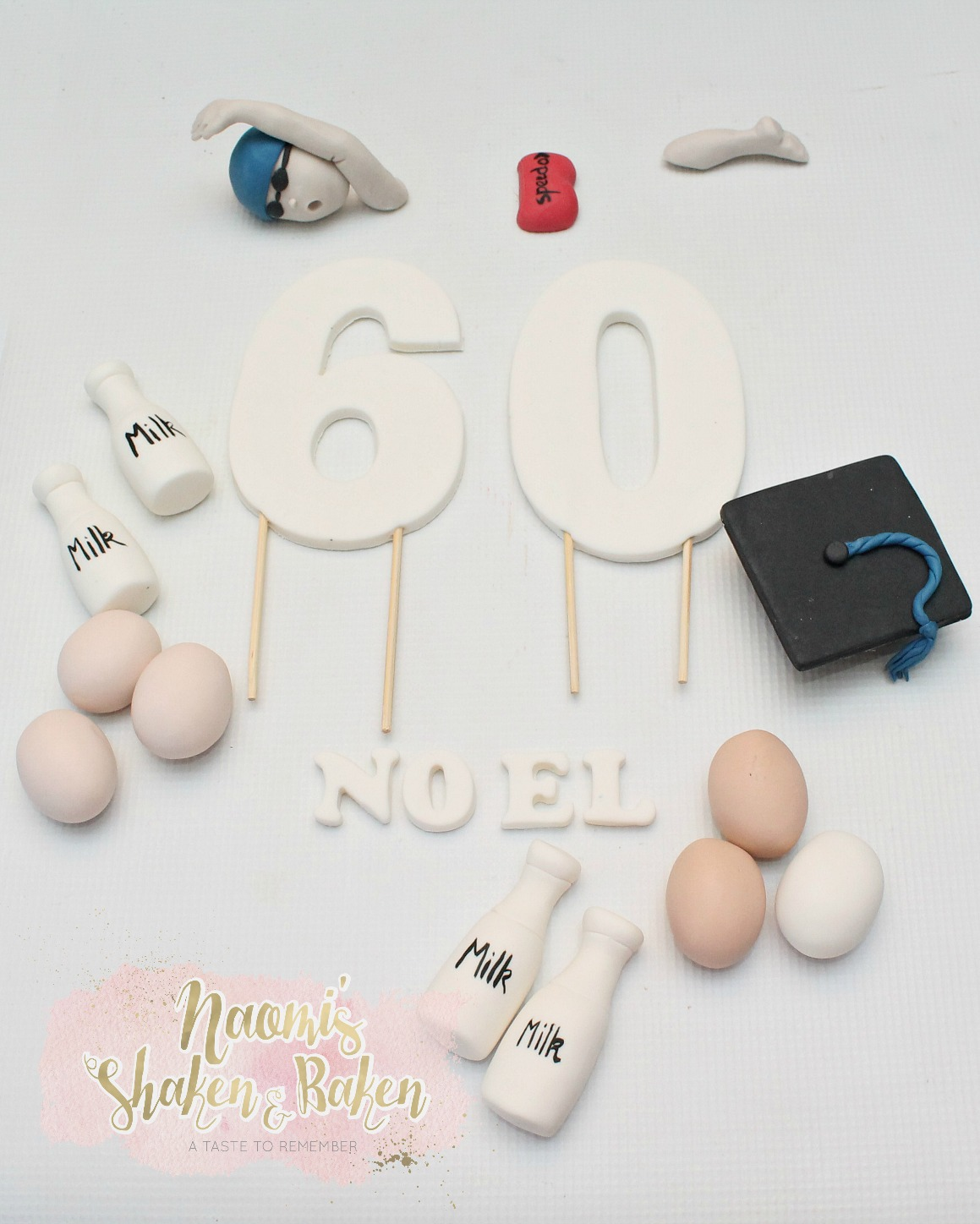 60TH Edible Cake Toppers