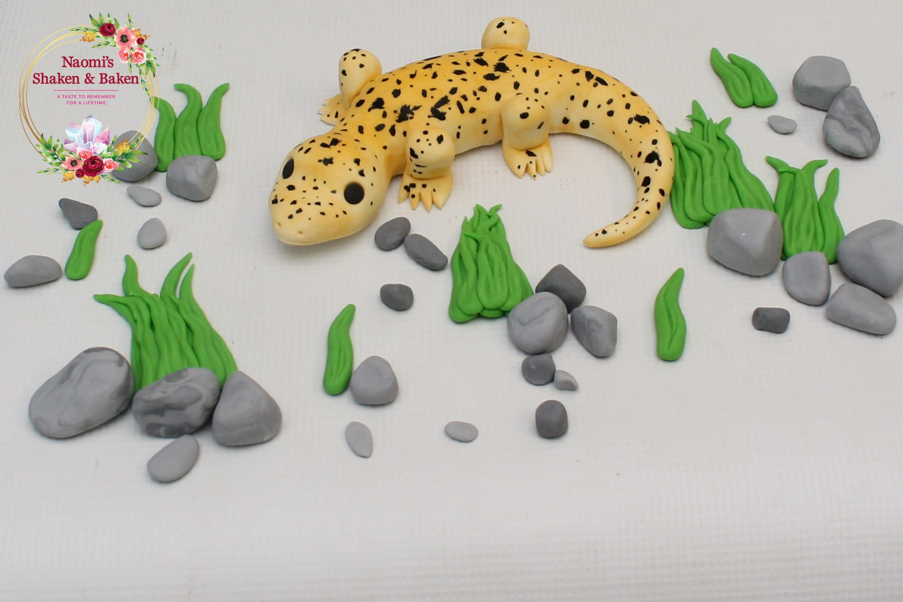 Edible Fondant Lizard Cake Topper Set Ship Australia Wide