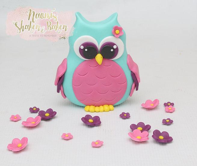 Cute Edible Owl Fondant Cake Topper Birthday Decoration Ship Australia Wide