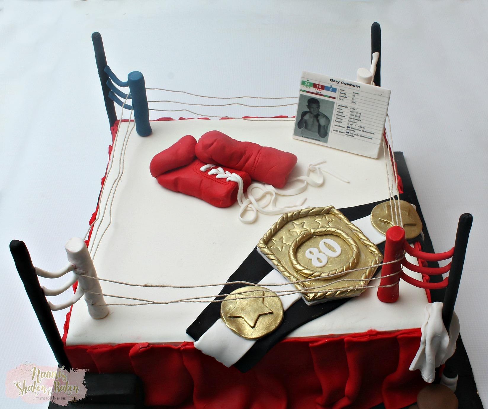 Gray Cowburn Boxing cake