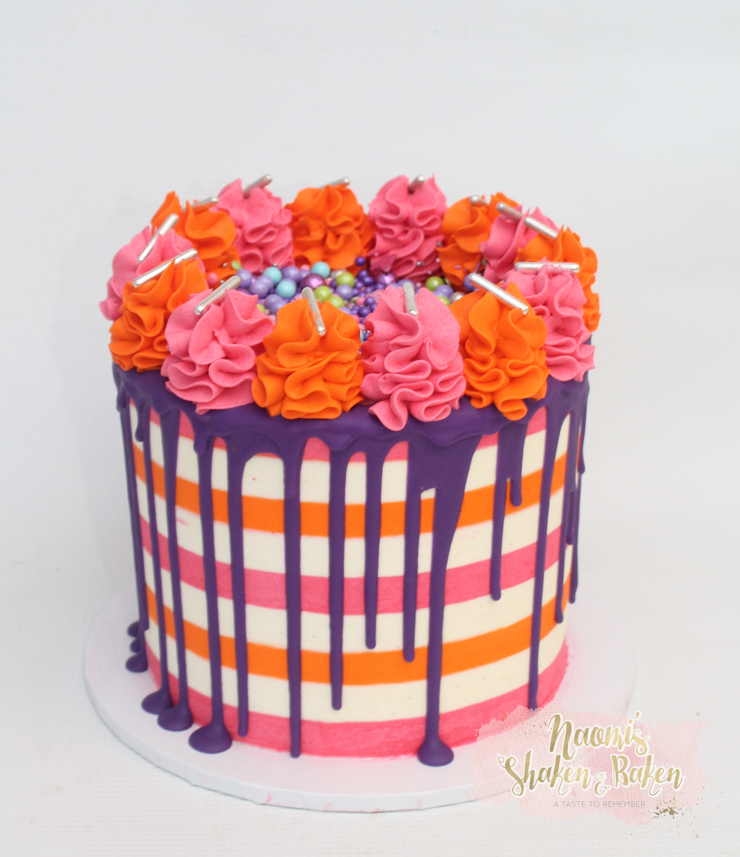 Stripes Birthday Cakes Caboolture