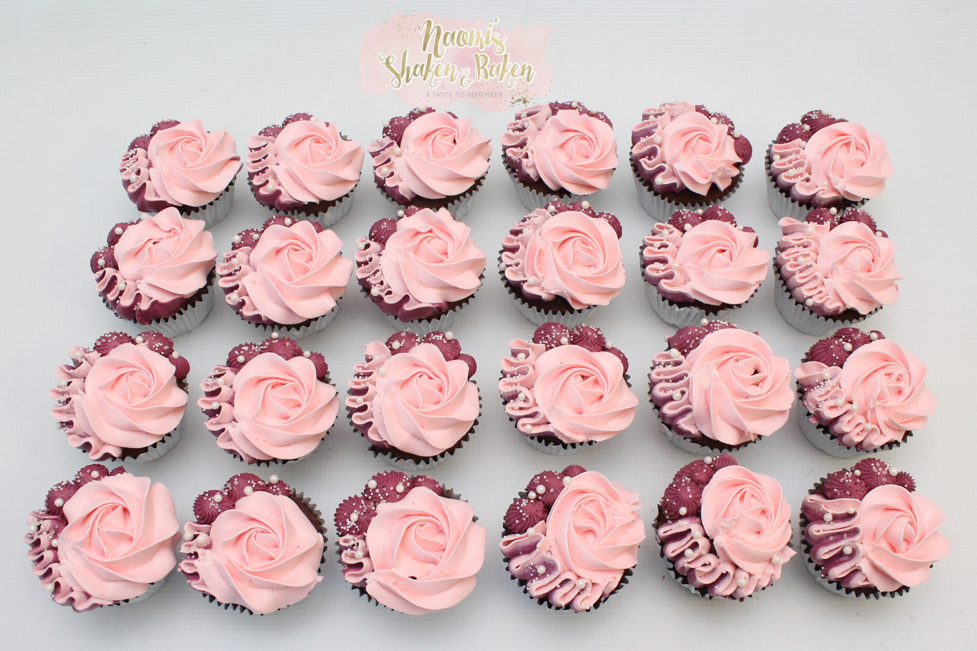 Girl baby shower cupcakes