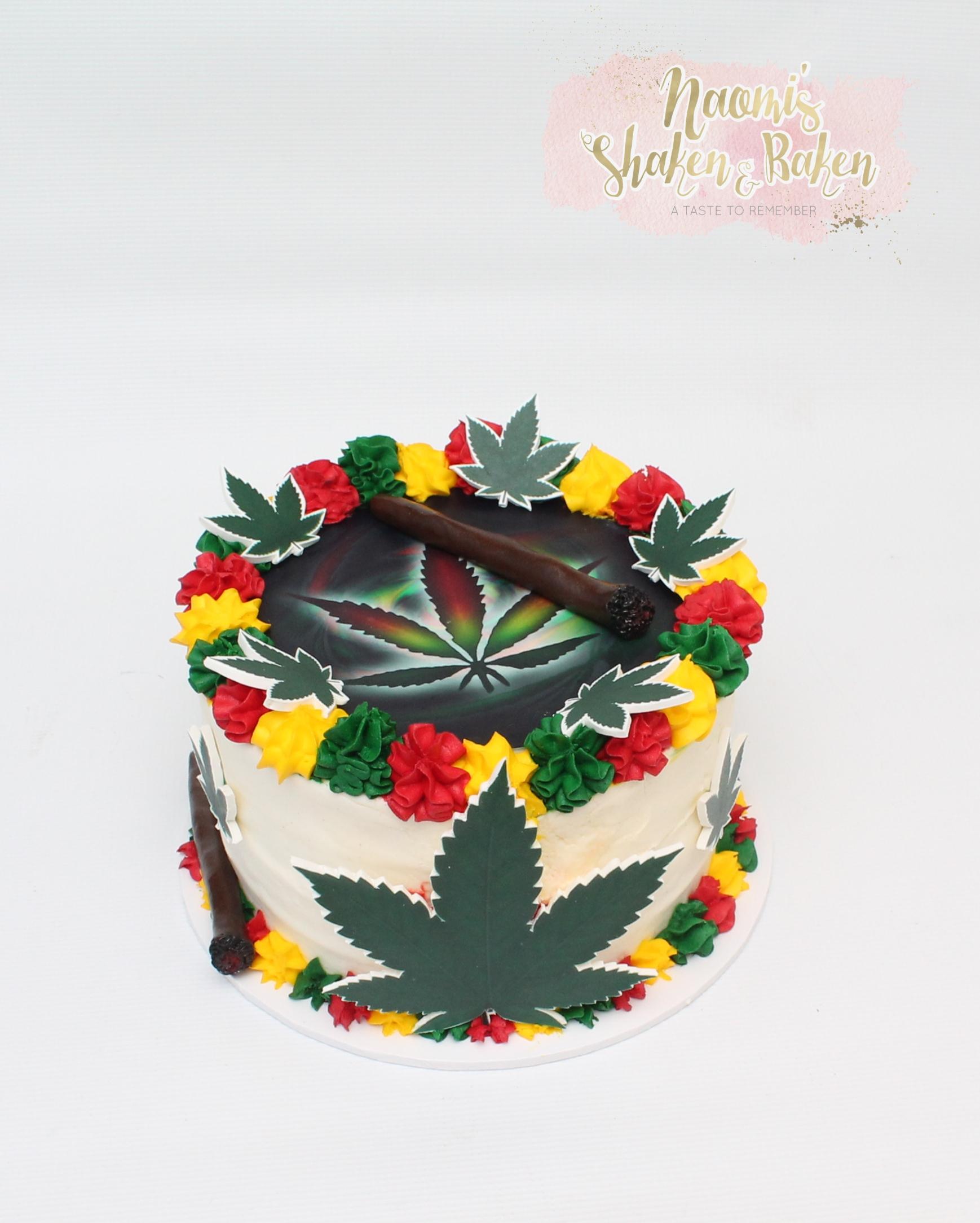 marijuana buttercream cake