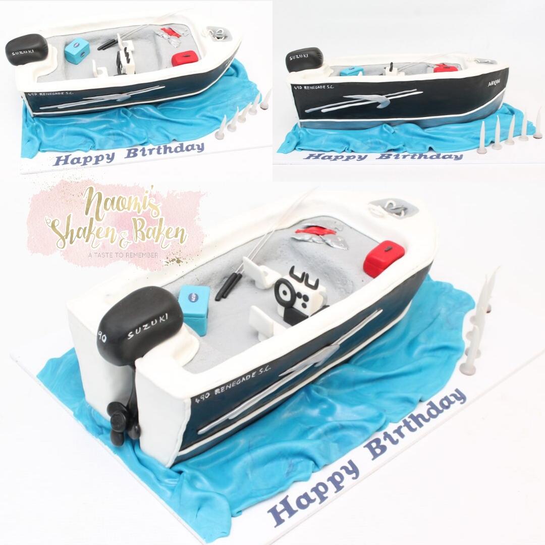 3D Carved Boat Cake