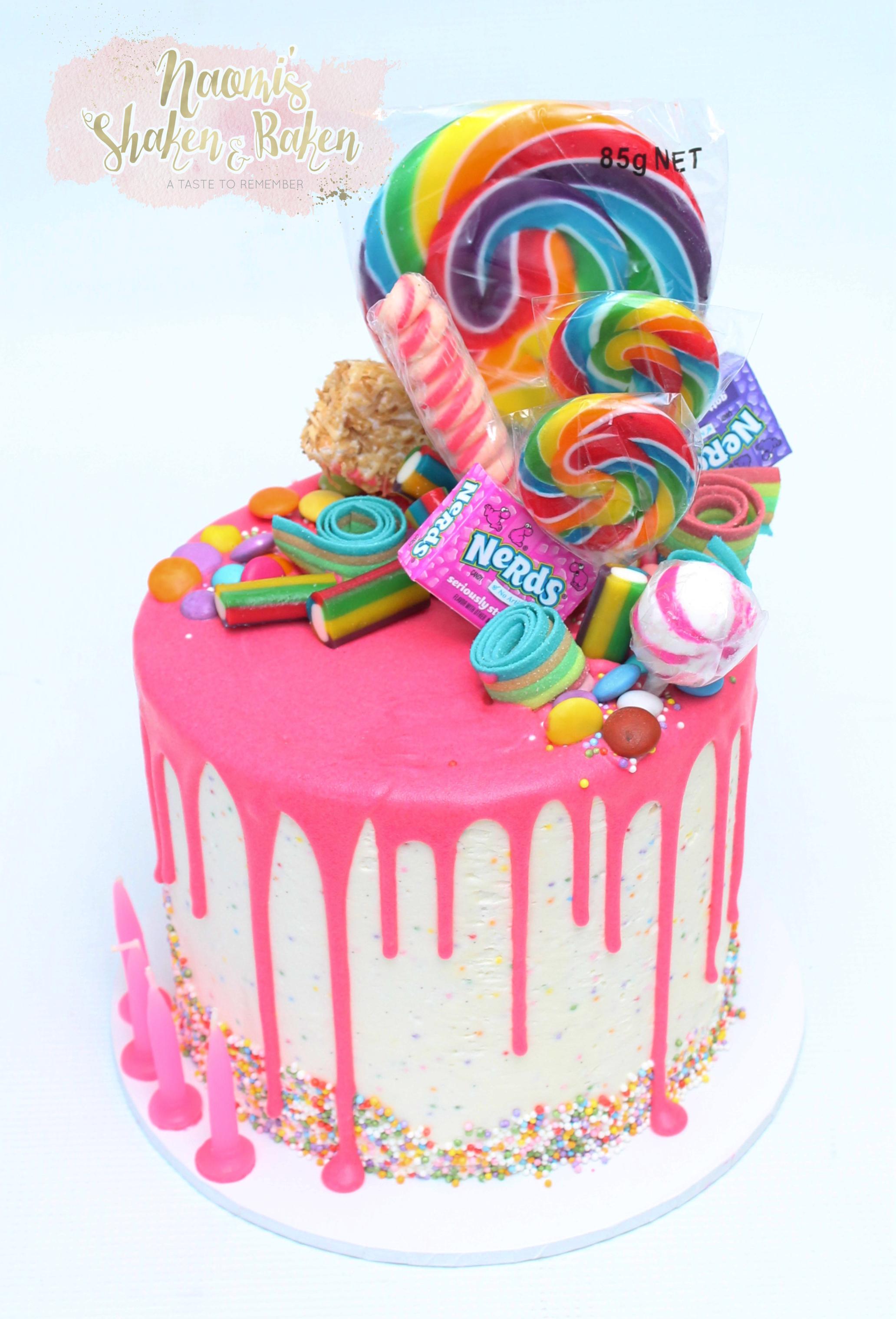Funfetti drip cake caboolture