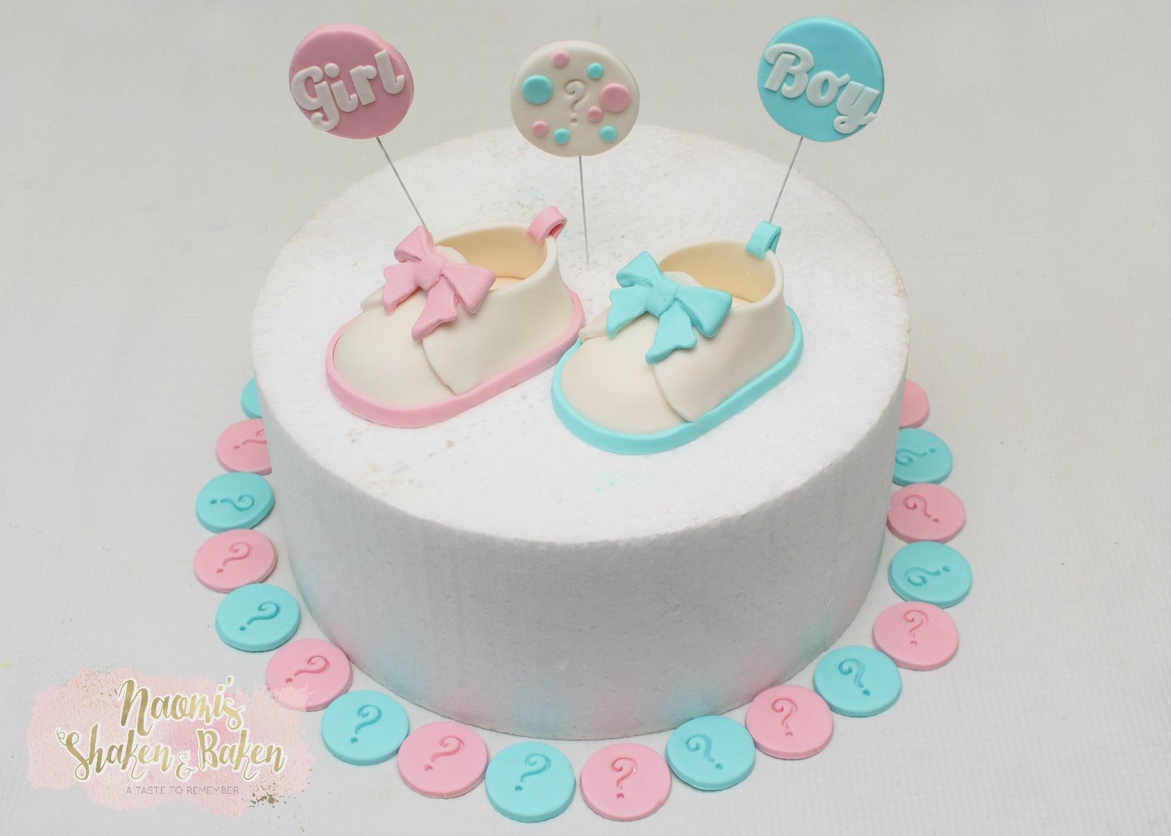 Baby shower cake topper set