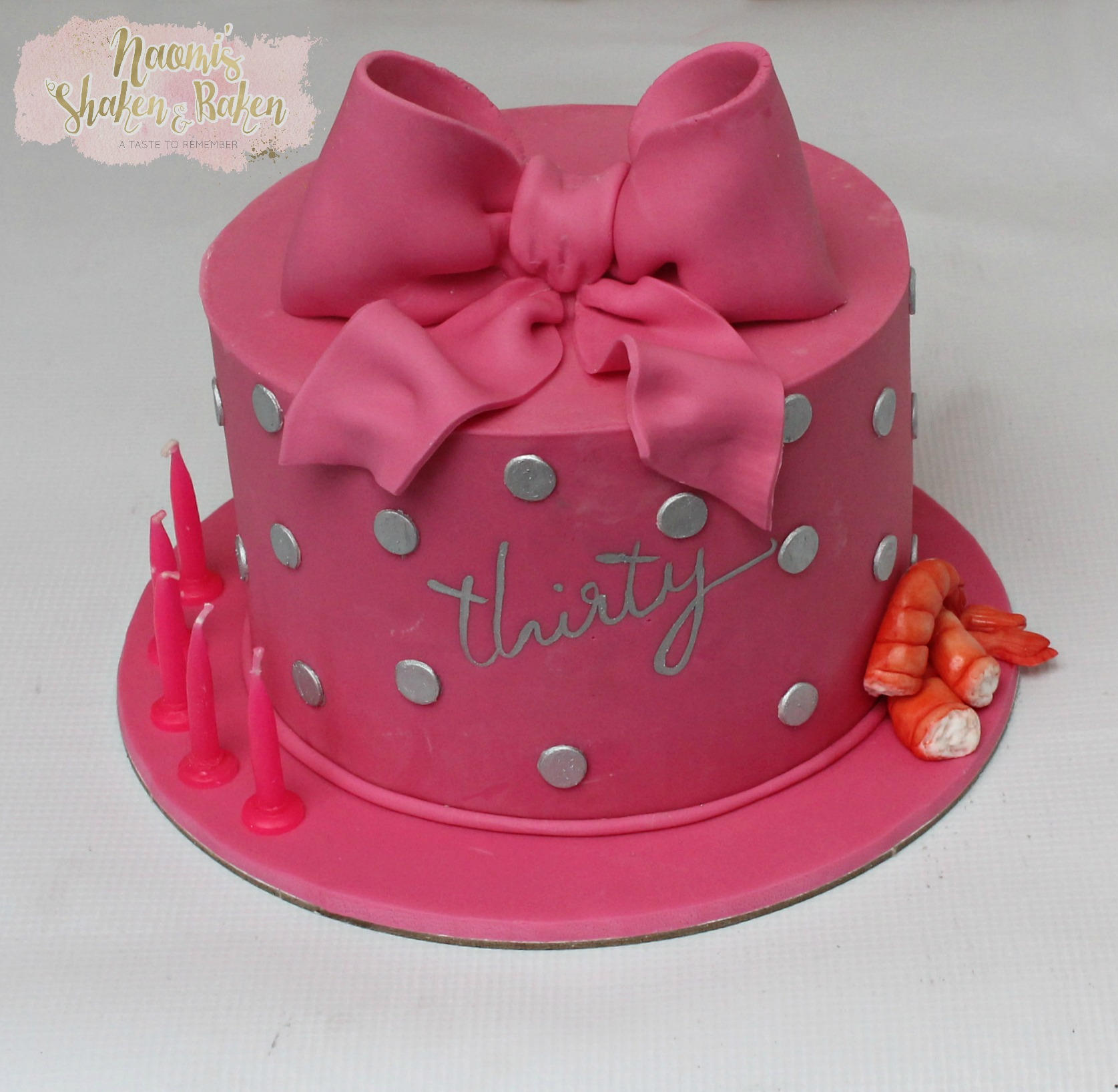 30th birthday cake lover of prawns