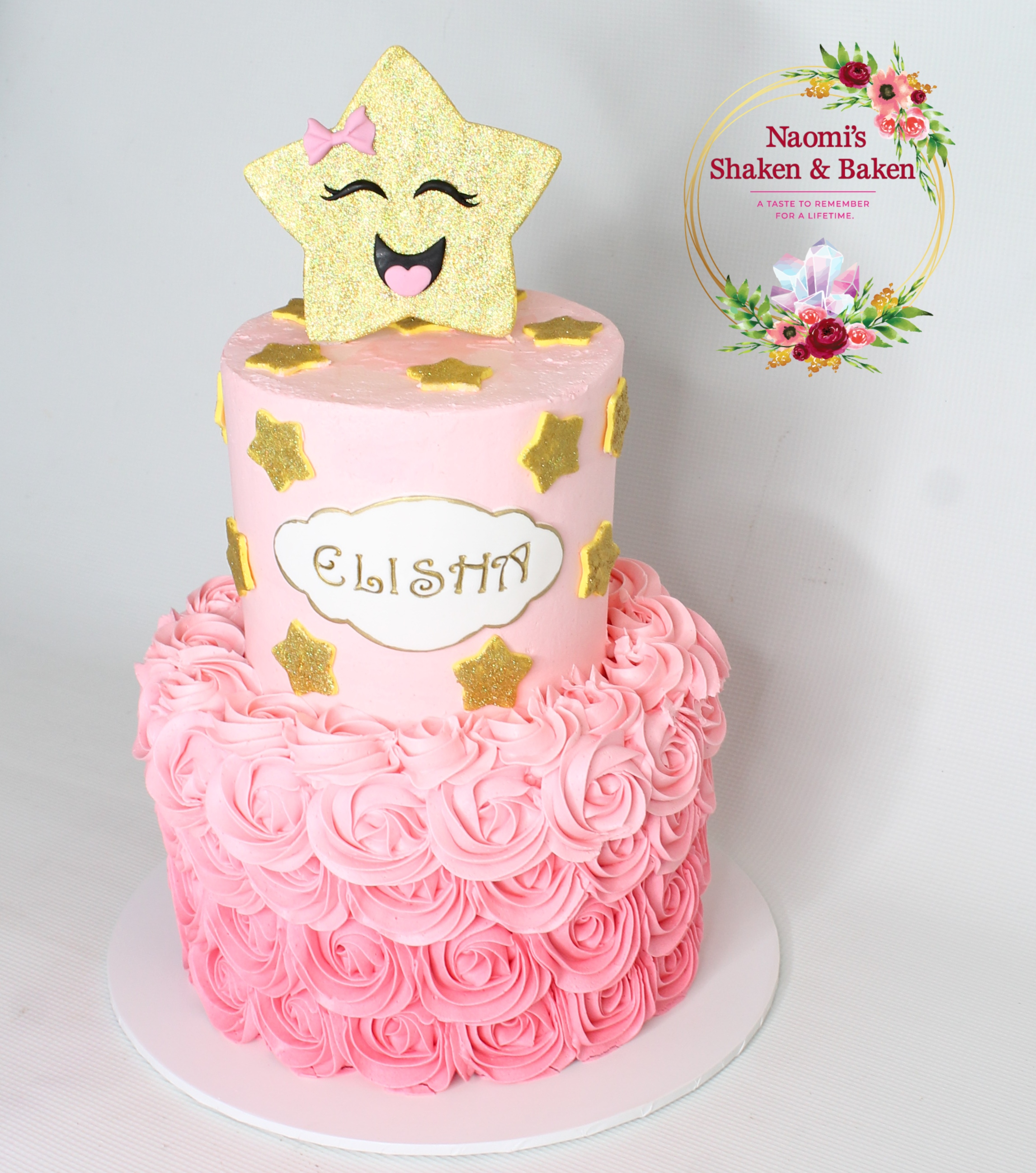 Rosette Pink Ombre Birthday Cake caboolture Morayfield