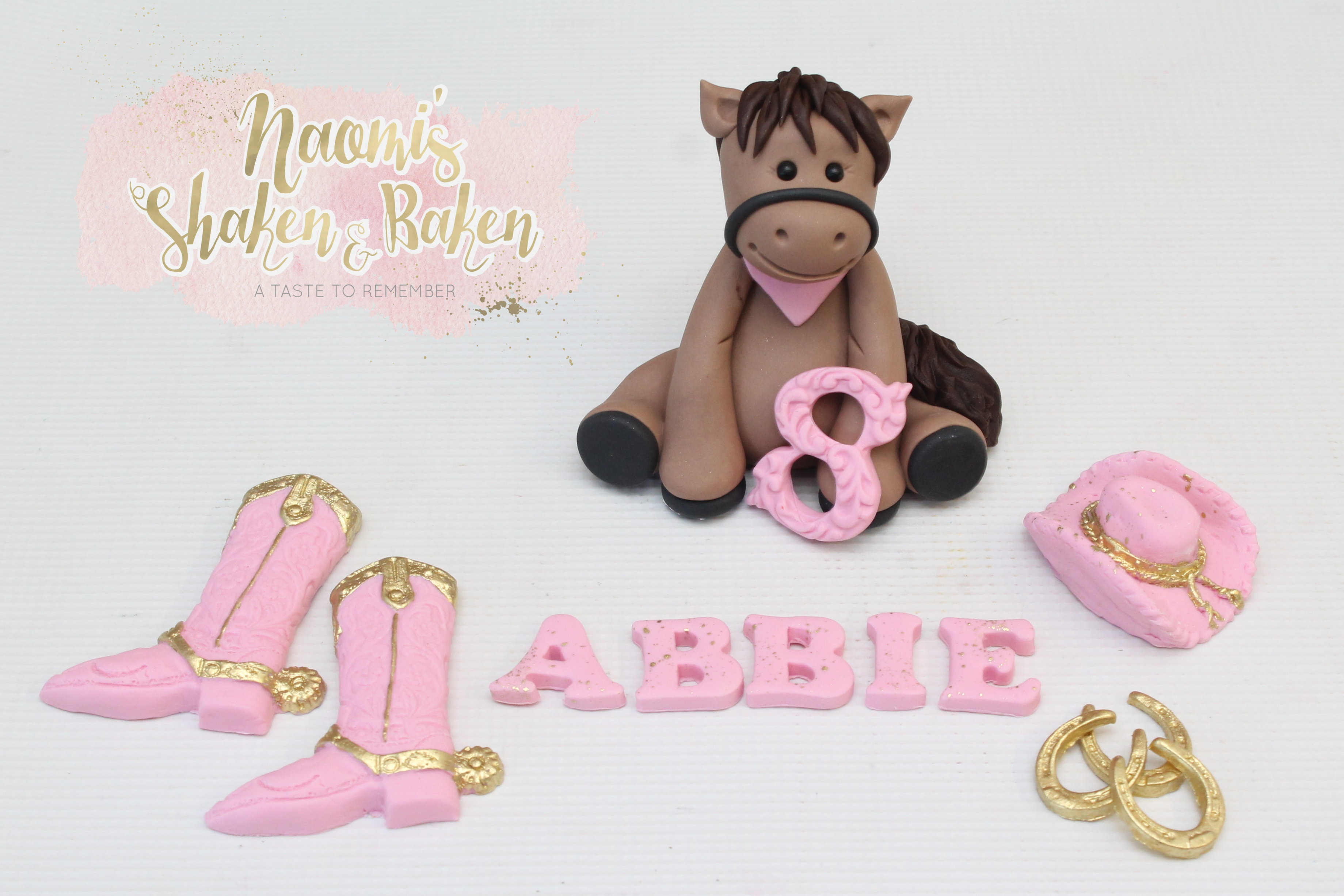 Cowgirl Cake topper set
