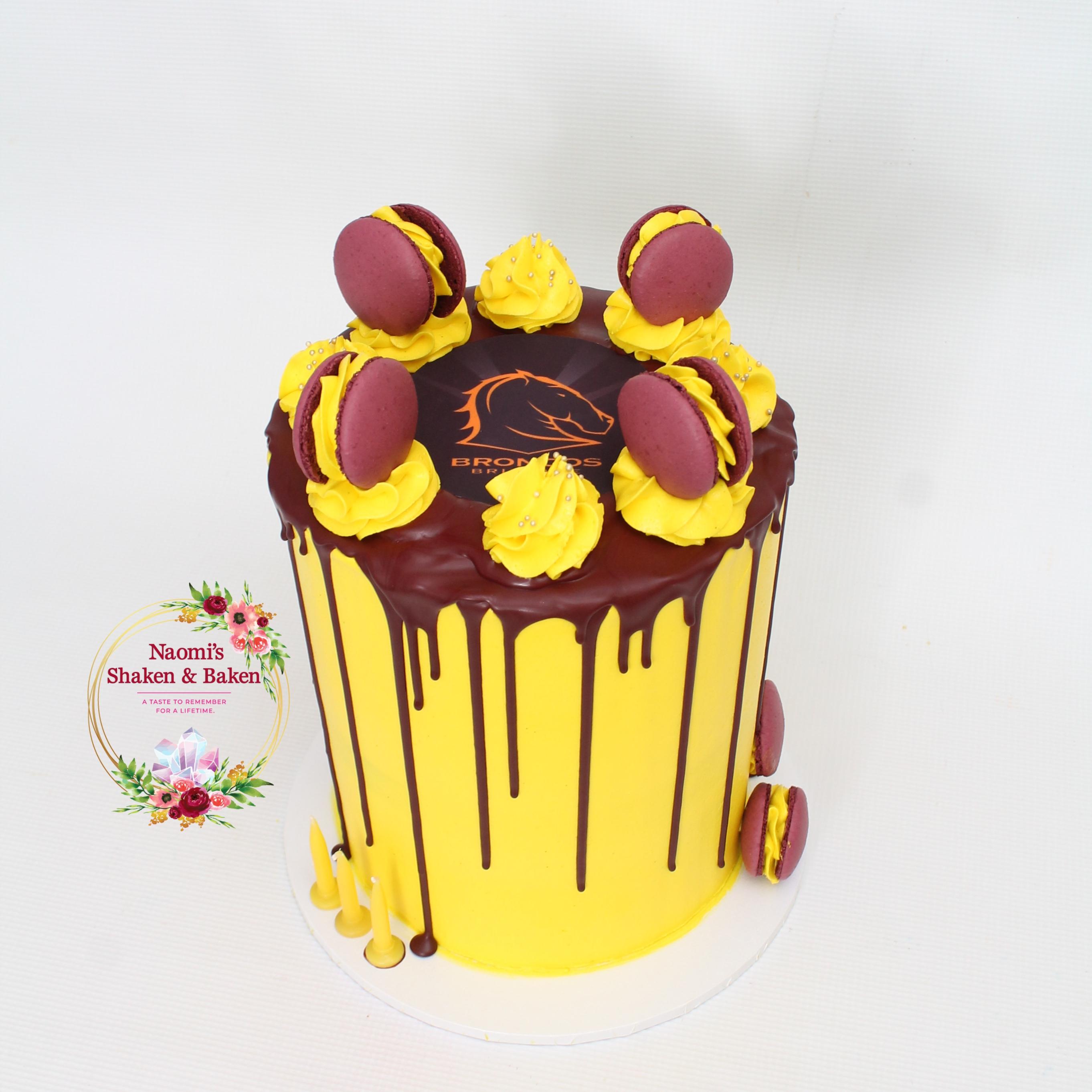 Broncos Birthday Drip Cake