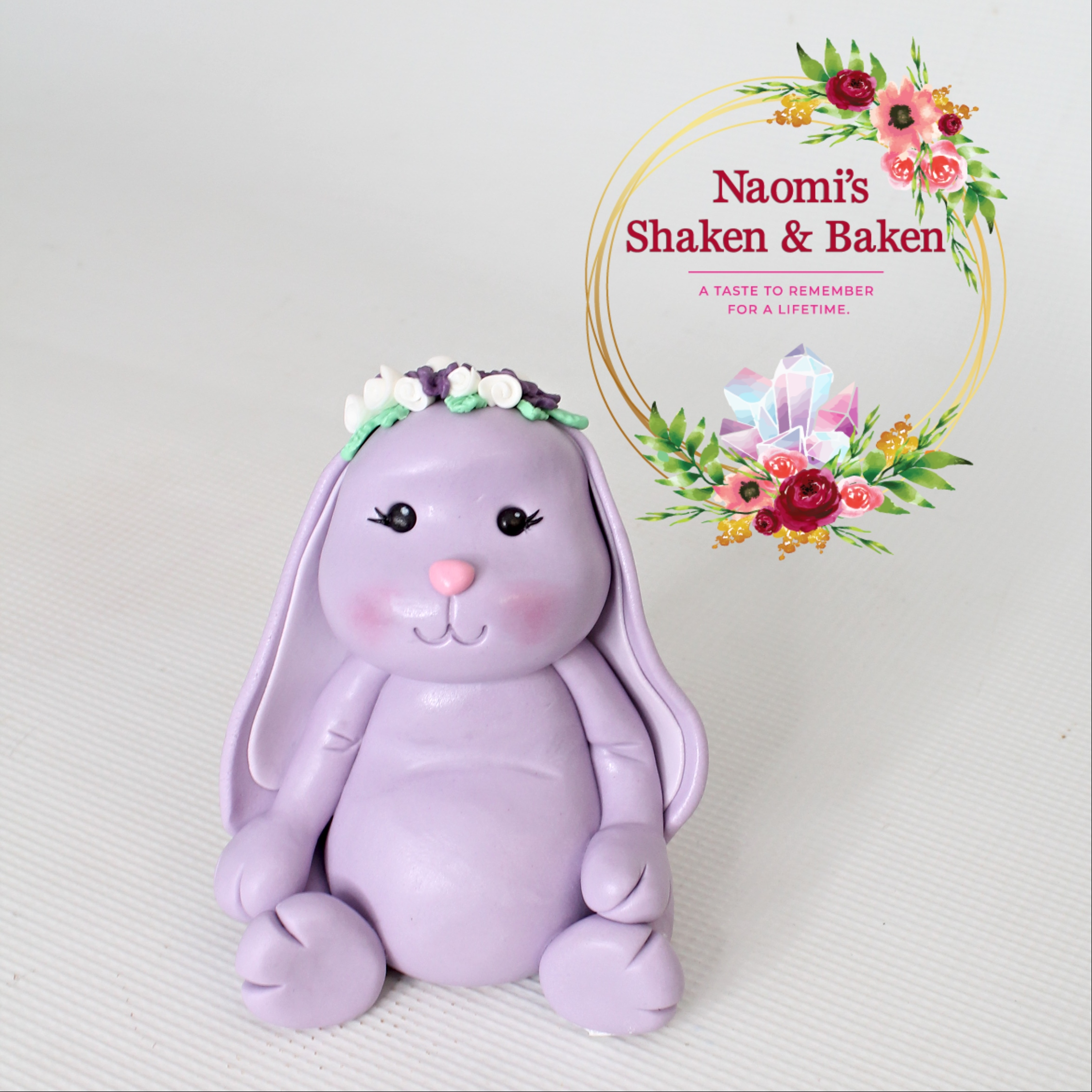 3D Handmade Edible Cute Bunny Cake Topper Caboolture