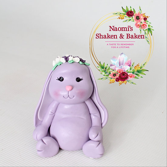 1x Edible 3D Cute Bunny Rabbit Fondant Cake Topper Australia Wide