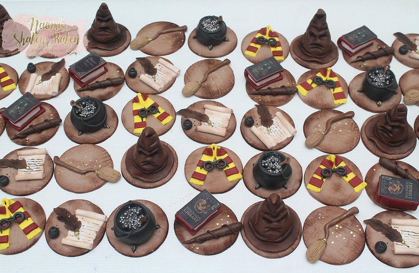 12x Edible Wizard Witch Fondant Cupcake Toppers Caboolture Ship Australia Wide