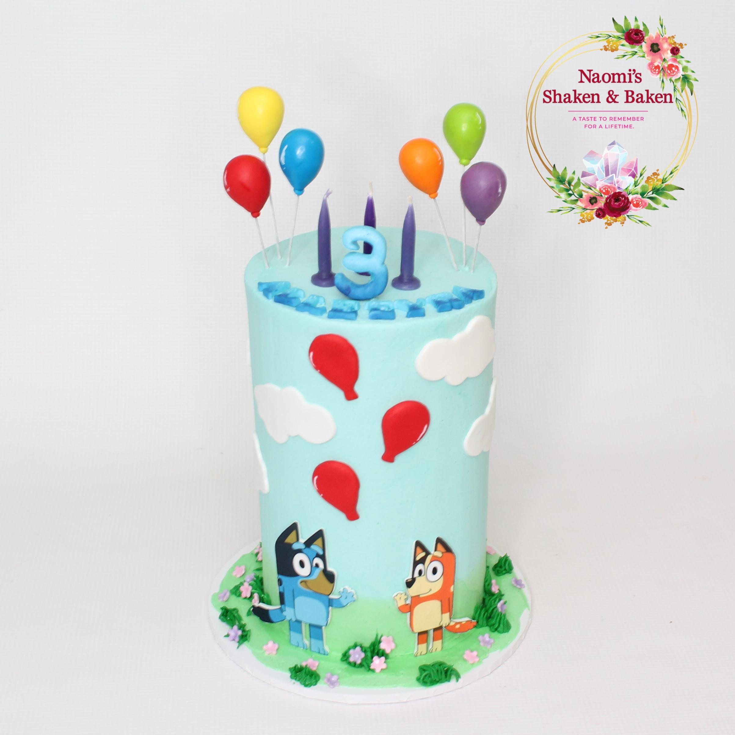 Bluey Buttercream Birthday Cake Caboolture