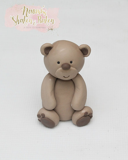 3D Edible Teddy Bear Dog Puppy Fondant Cake Topper Ship Australia Wide