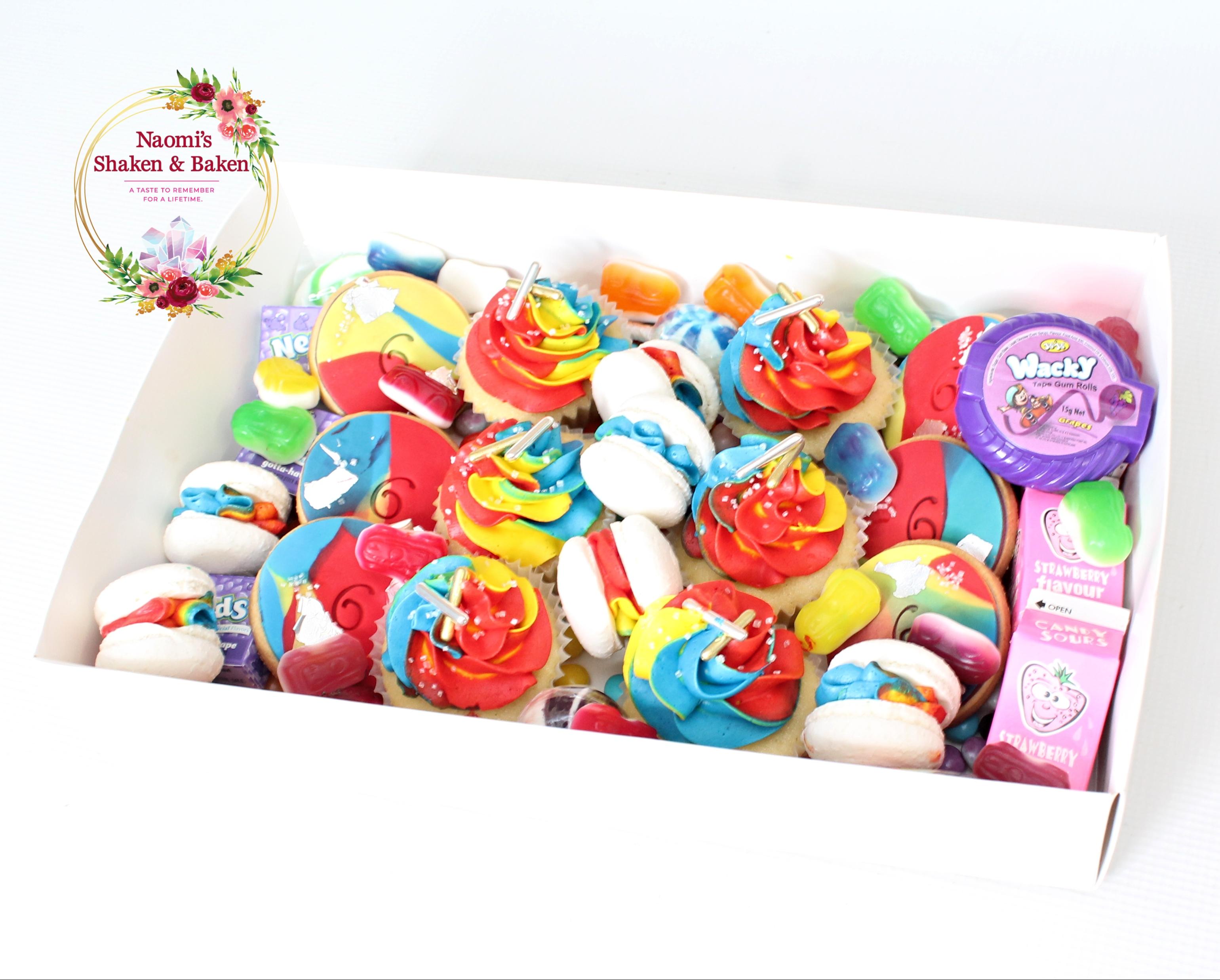 Rainbow Splash Gaze Box Dessert Box Birthday