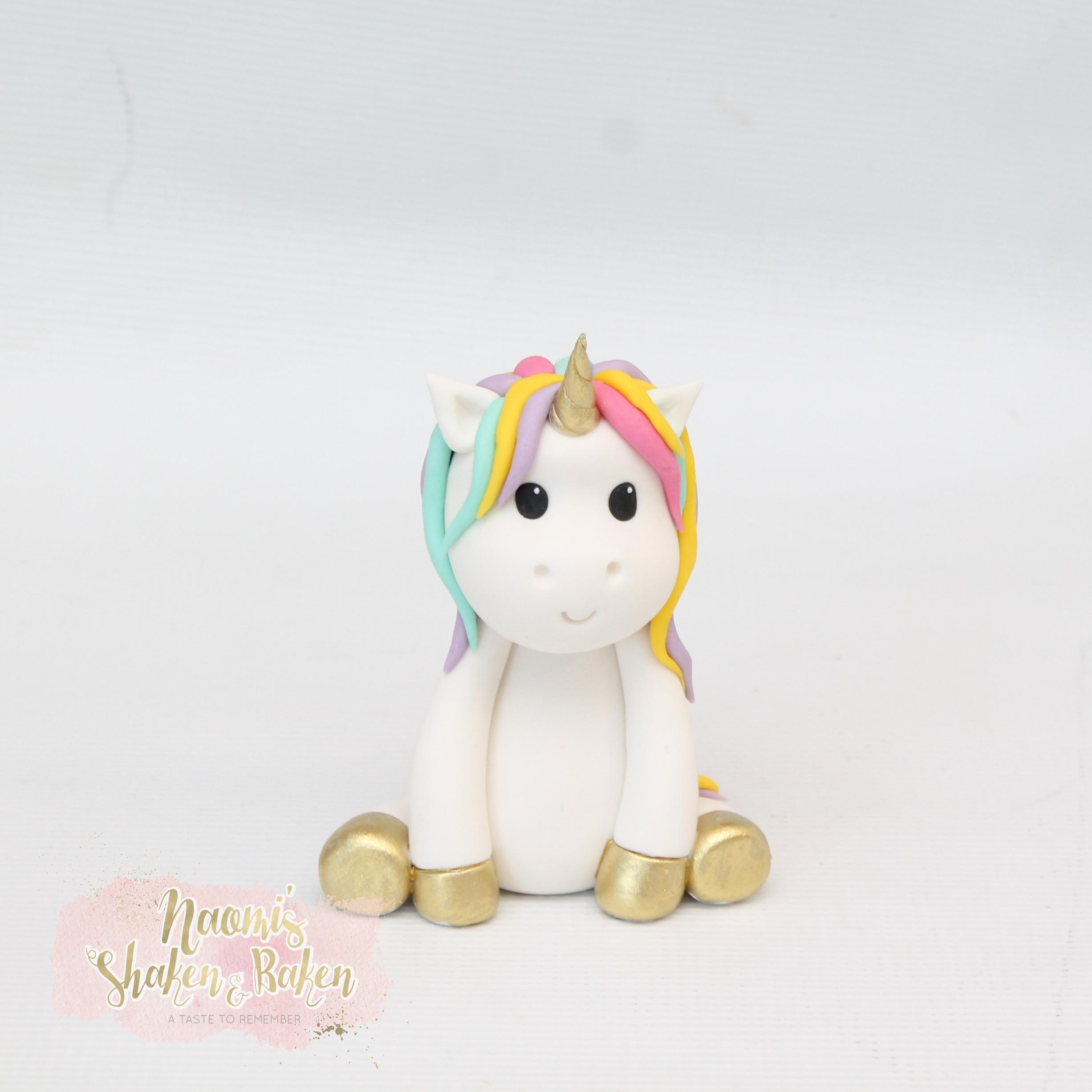 Edible Fondant Unicorn Cake Topper
