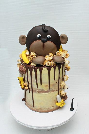 Edible Cute Jungle Monkey Fondant Cake Topper Set Ship Australia Wide