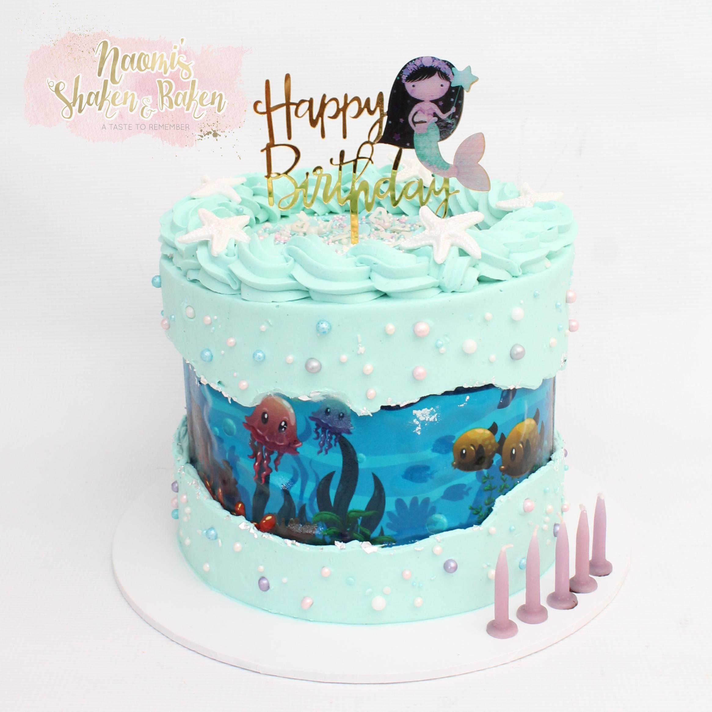 Mermaid under the sea cake