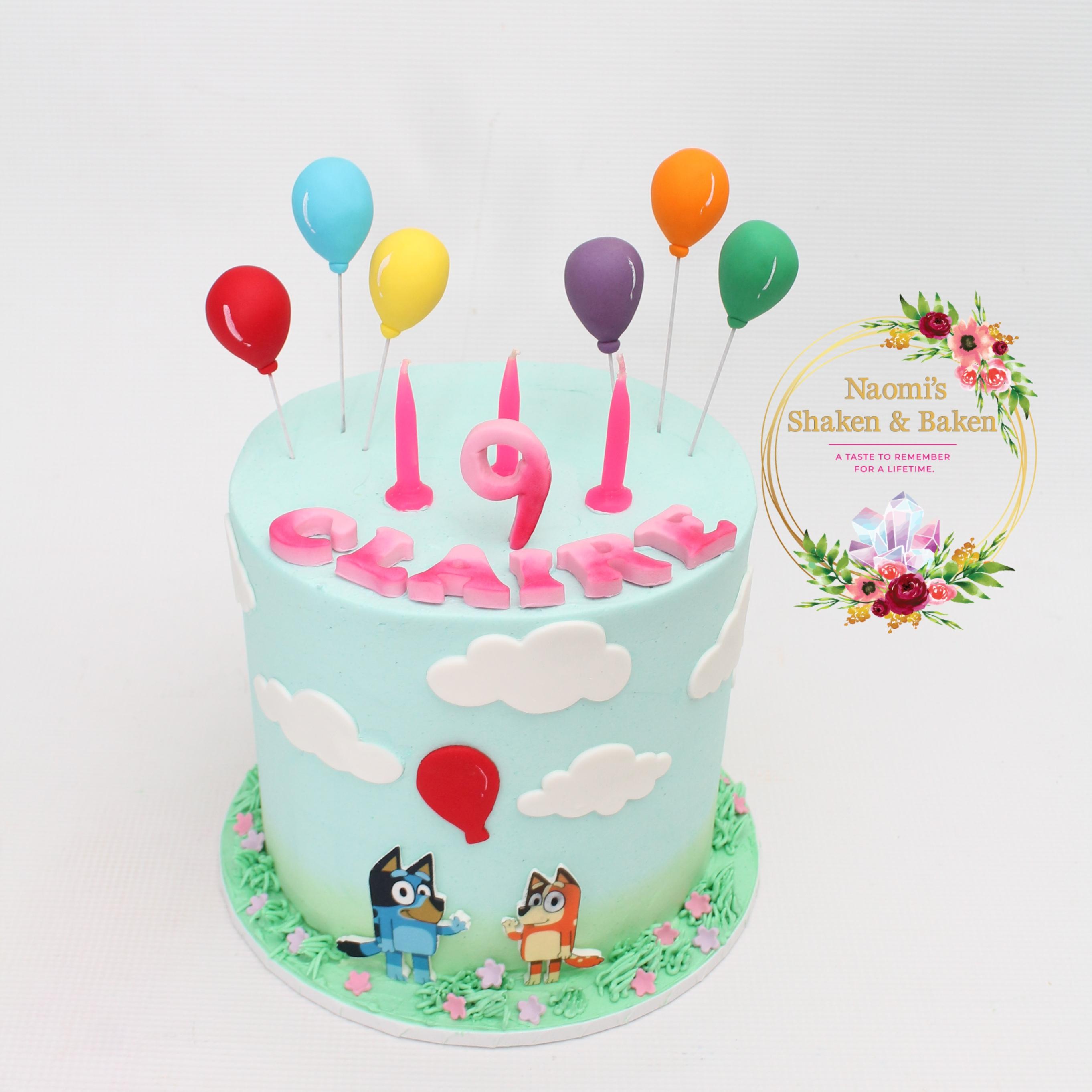 Bluey Birthday Cake