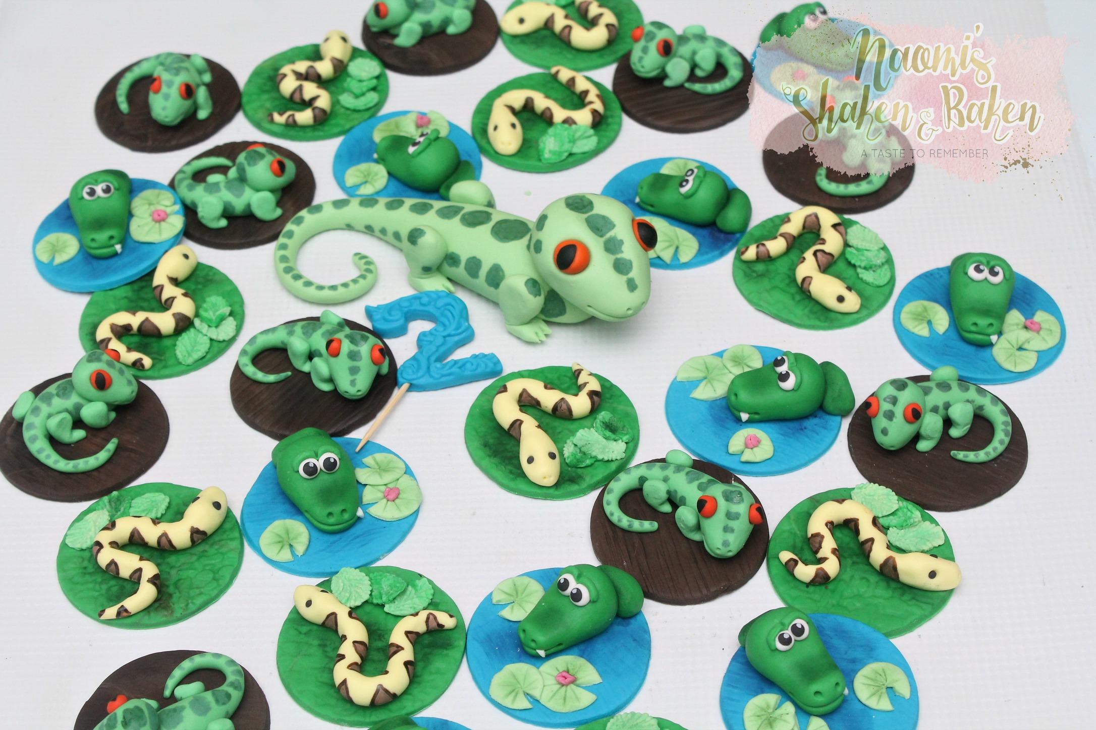 Reptile edible topper set