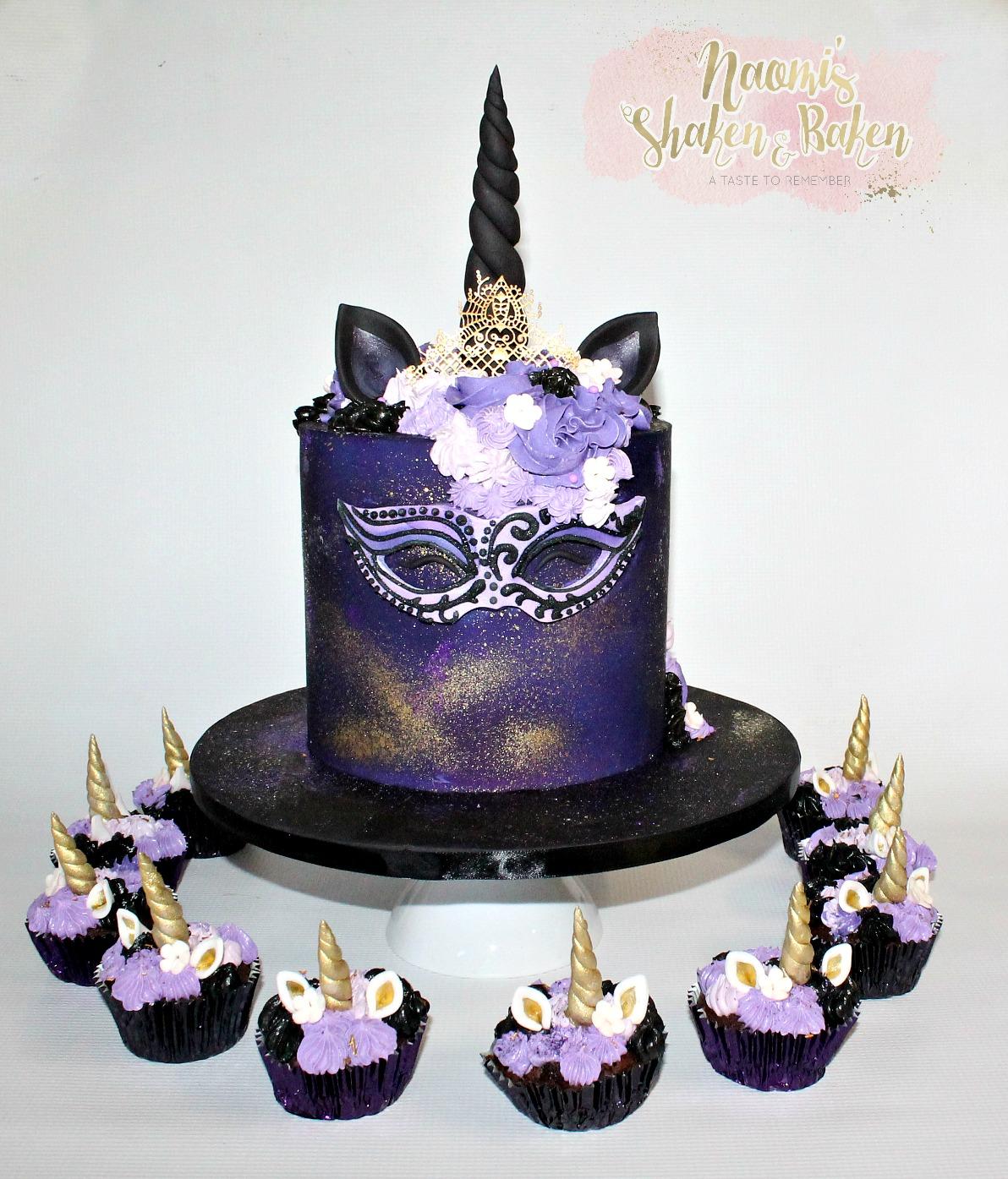 Birthday Unicorn Cake & cupcakes