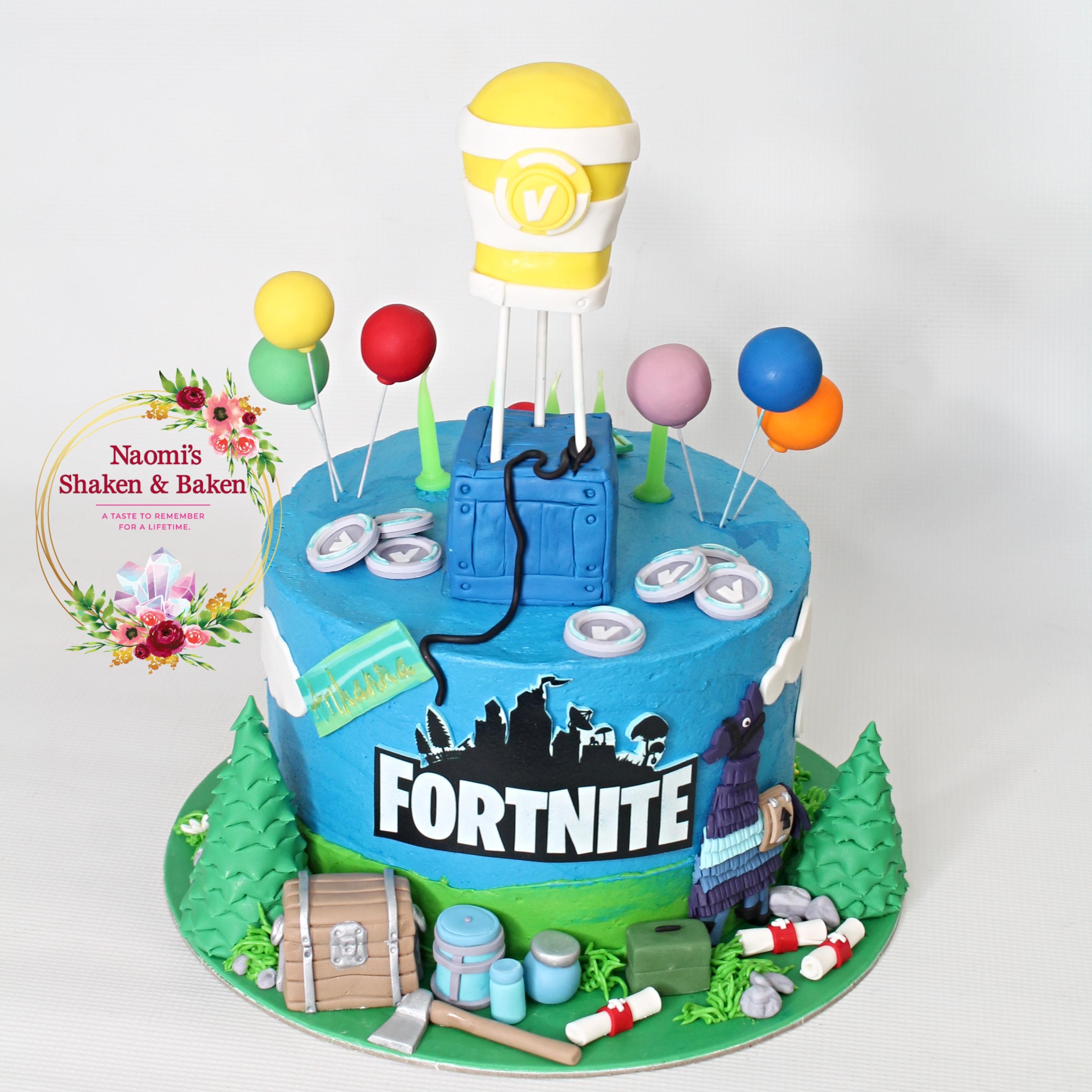 Half N Half Fortnite Themed Cake Caboolture