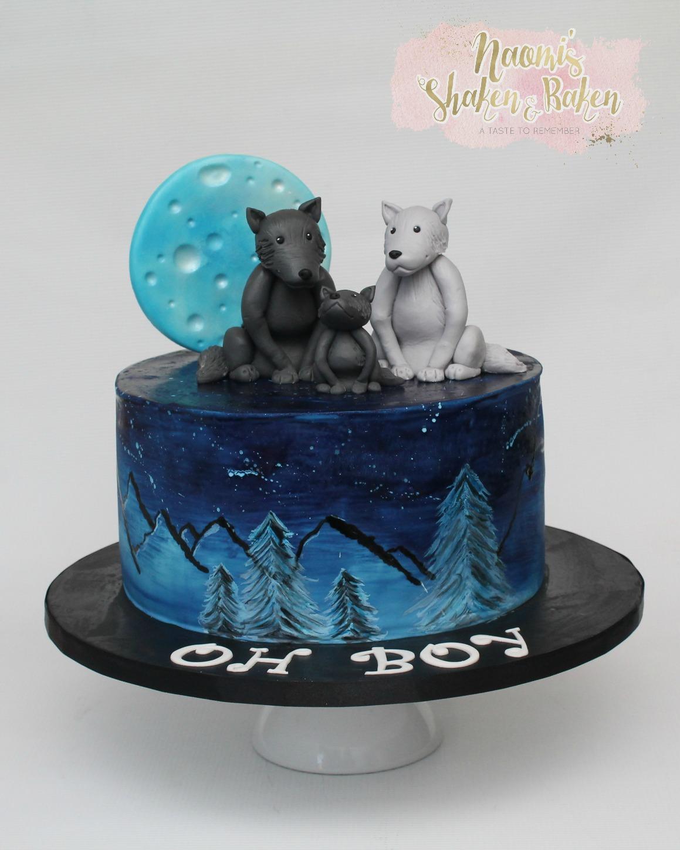 Boy Baby Shower Cake Wolf's