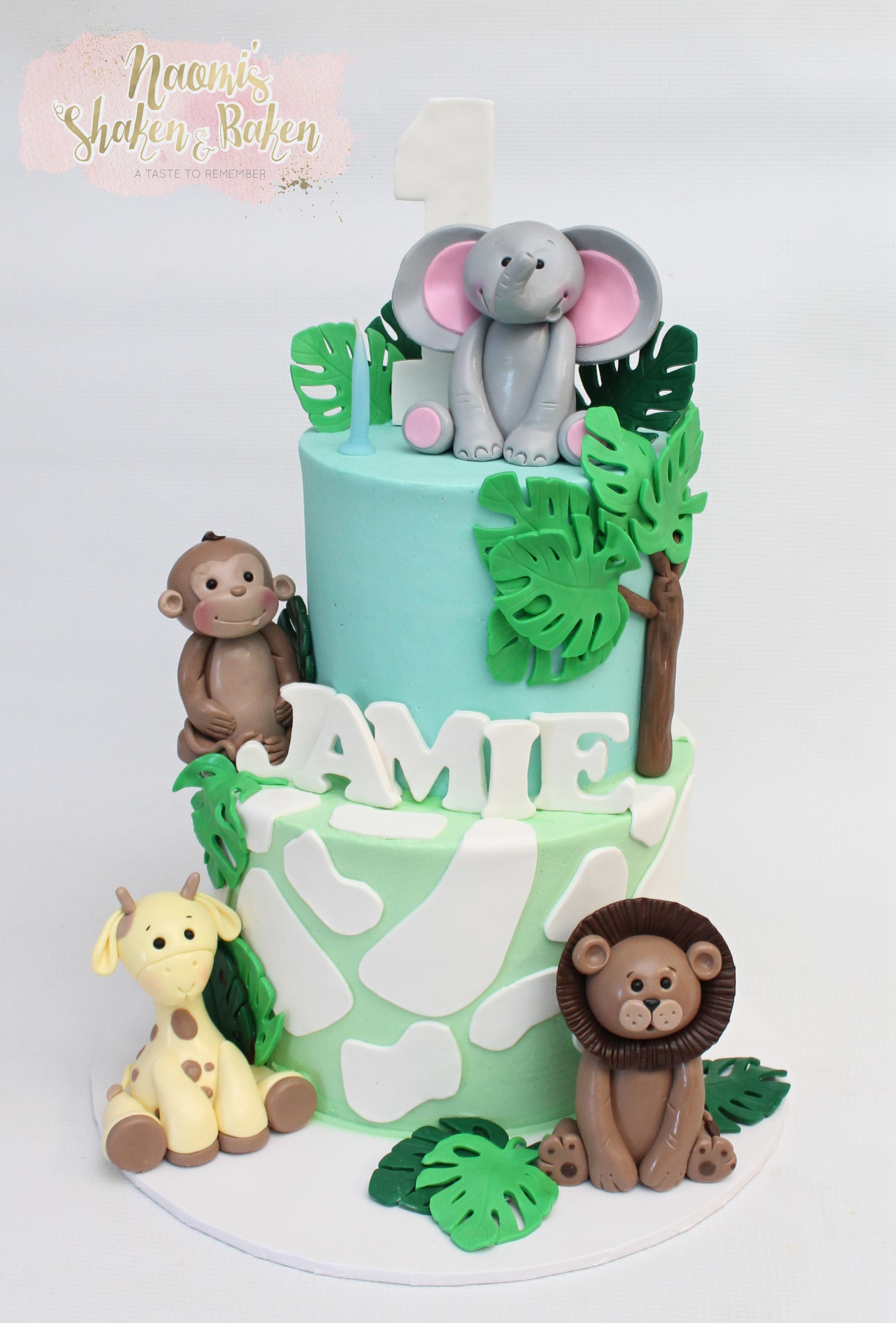 Jungle birthday cake caboolture
