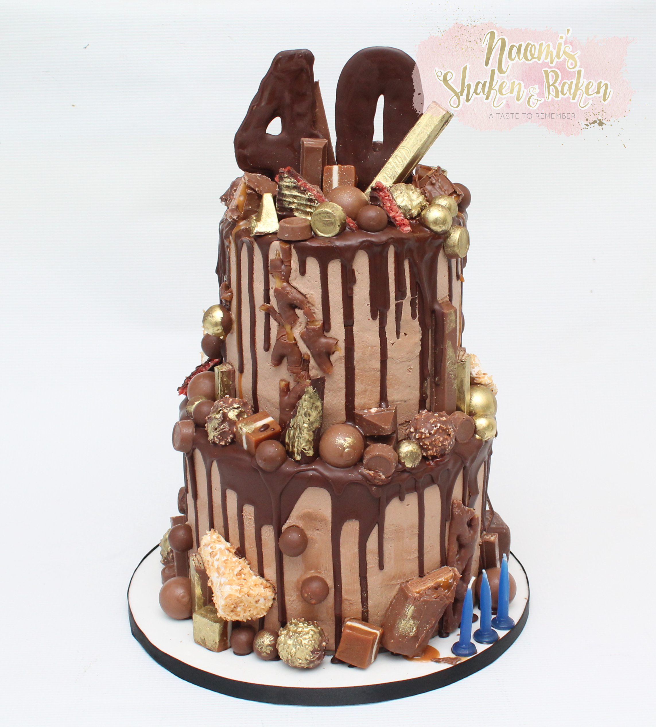 40th Drizzle Chocolate Cake