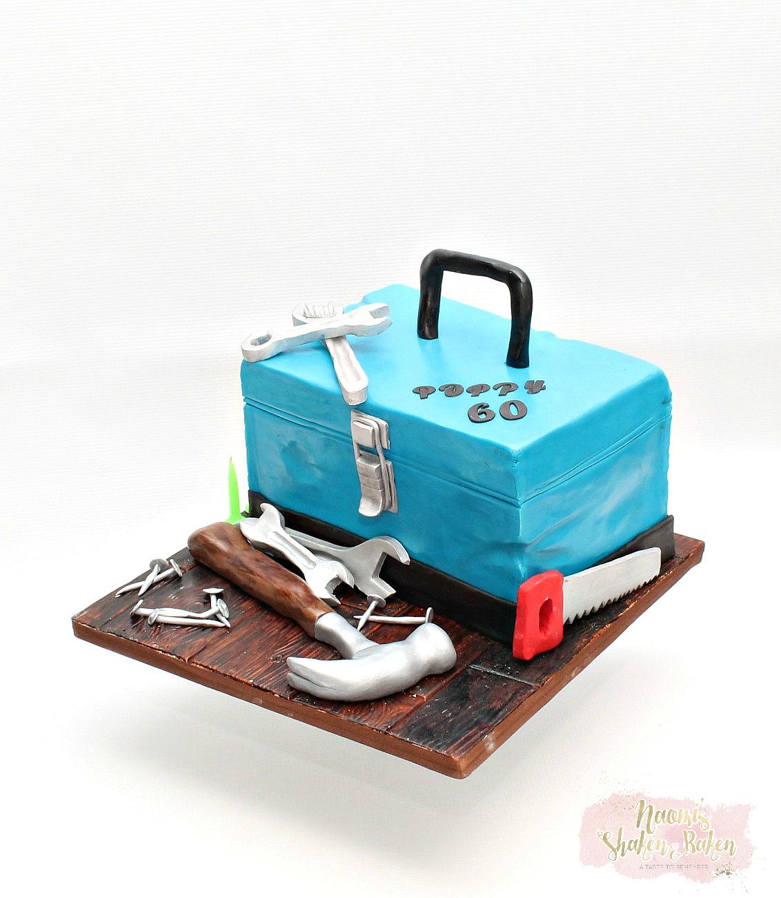 3D tool box birthday cake