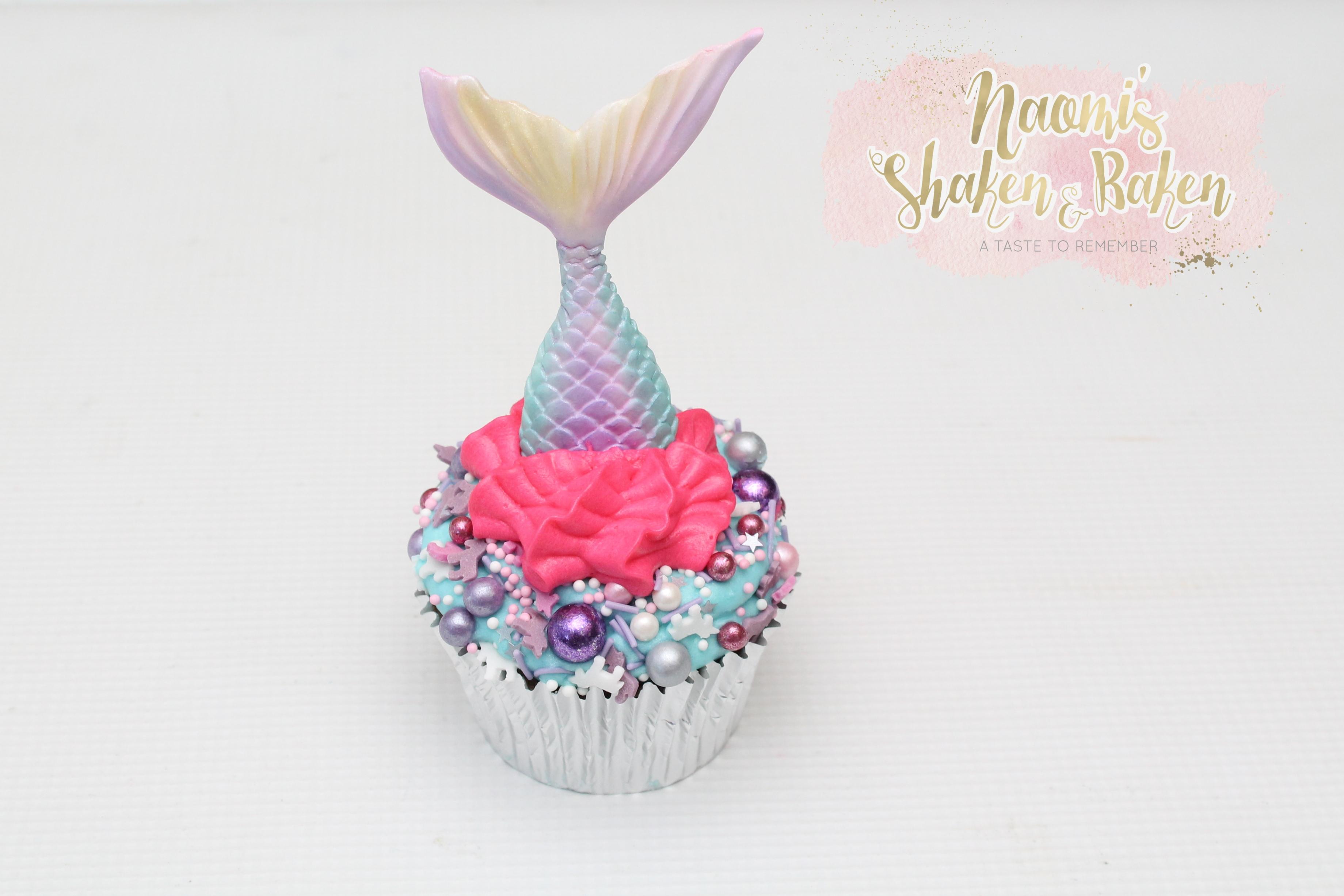 Mermaid tail cupcake