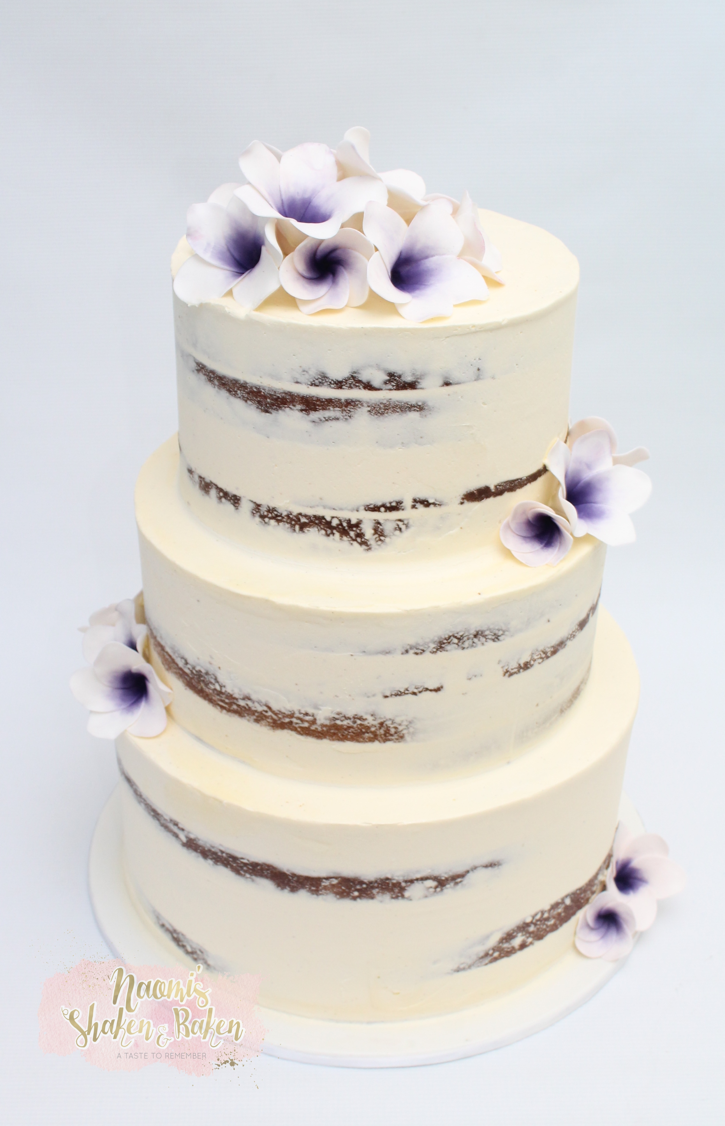 Semi Naked Wedding Cake Caboolture