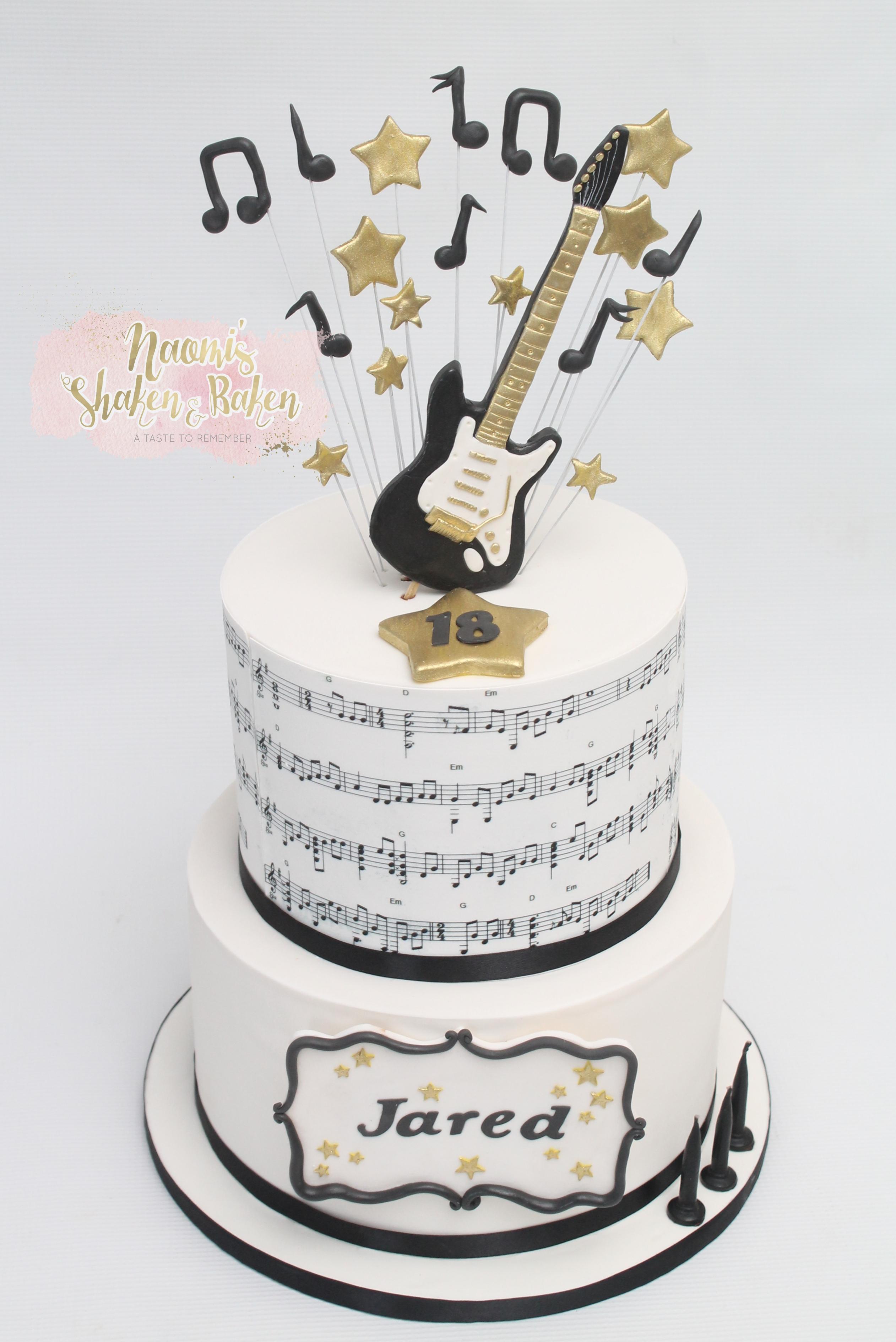 Guitar Rock Cake Morayfield