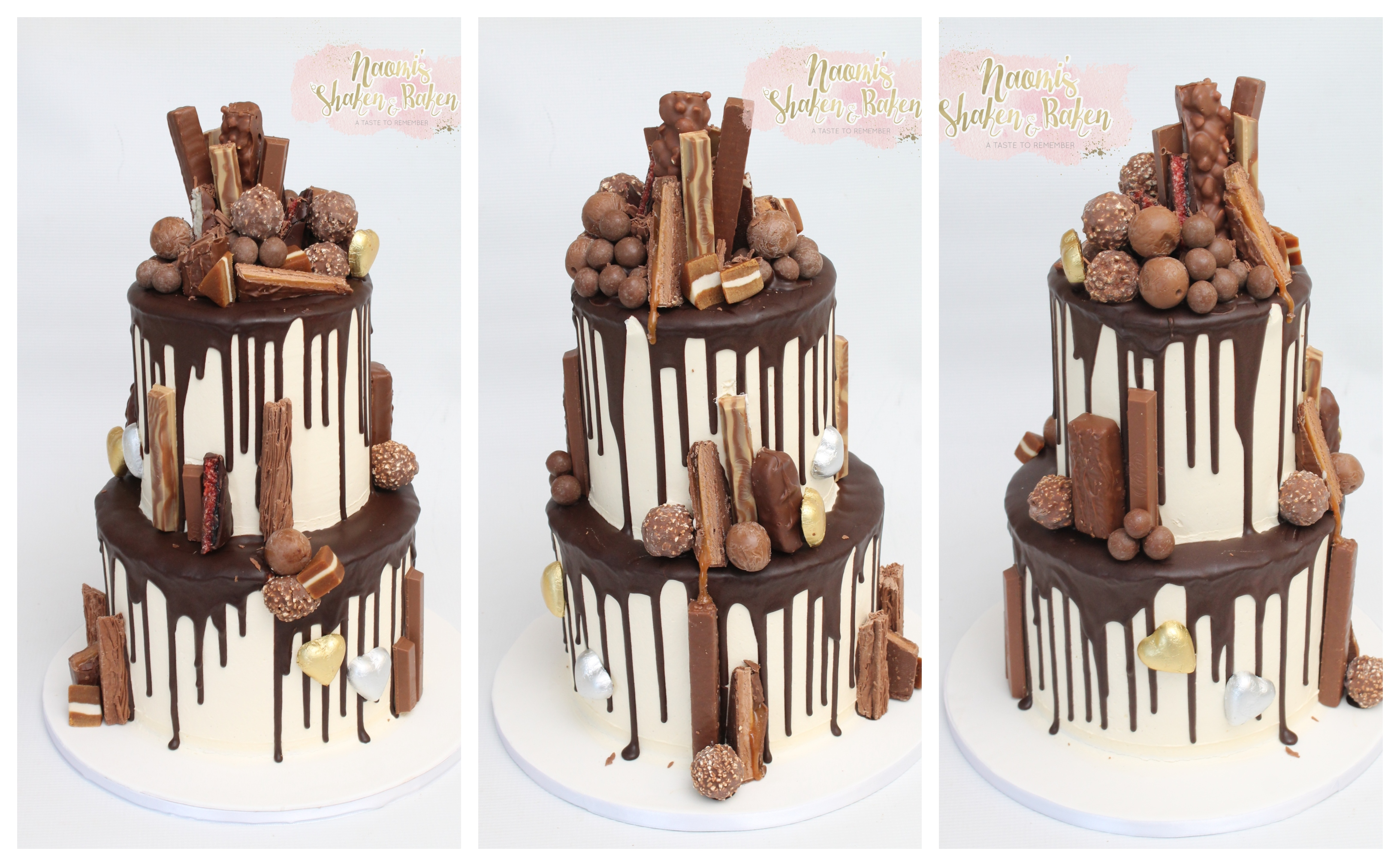 Chocolate drip wedding cake