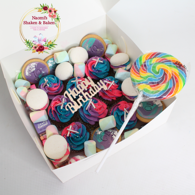 Rainbow Splash Cakealicious Graze Box