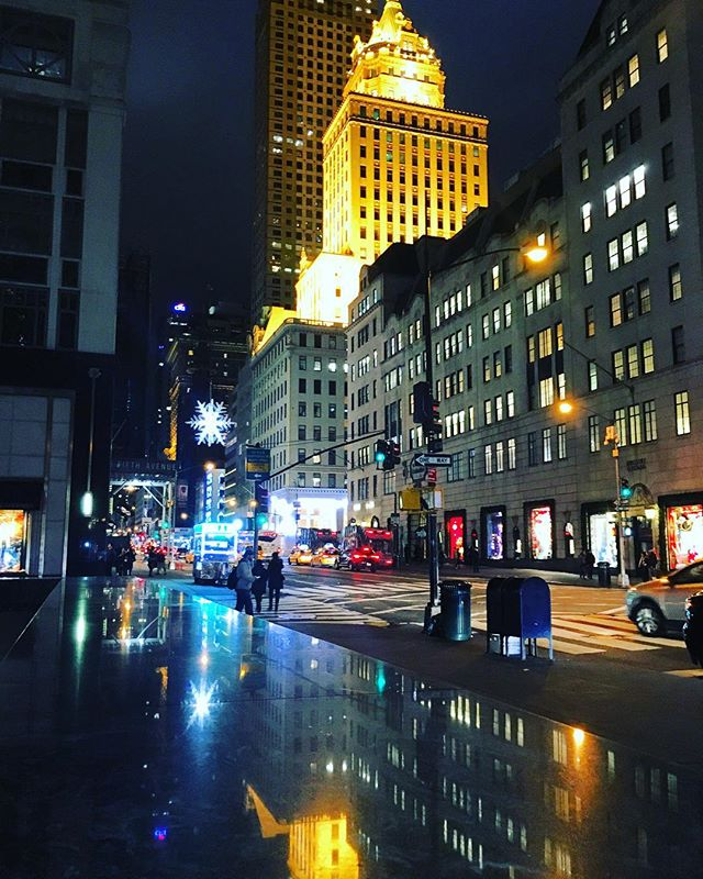 Last night's evening stroll on 5th 🏙🌃🌆 thanks for featuring me _bergdorfs!