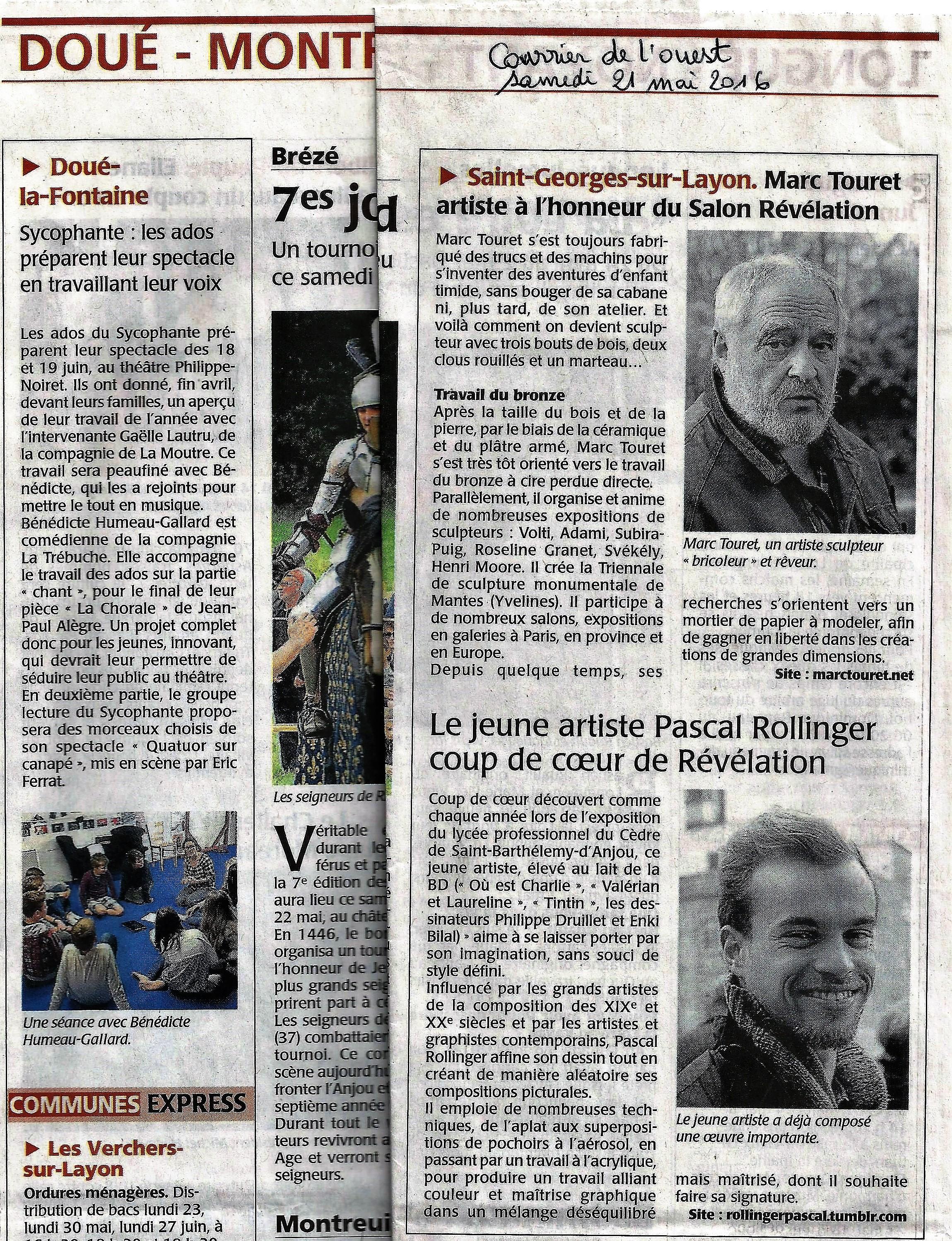 article presse C.O. 21 mai 2016