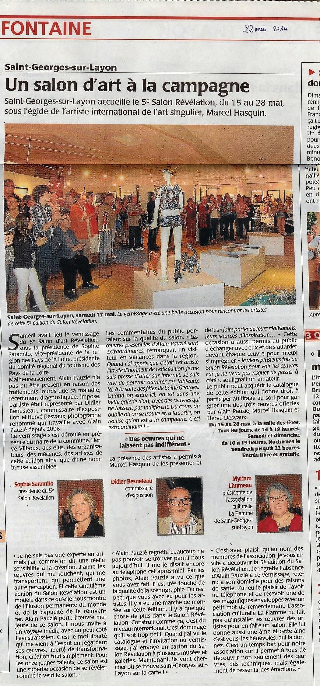 article presse C.O. 22 mai 2014