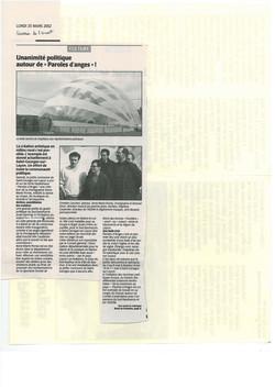 courrier ouest 25 mars 2002
