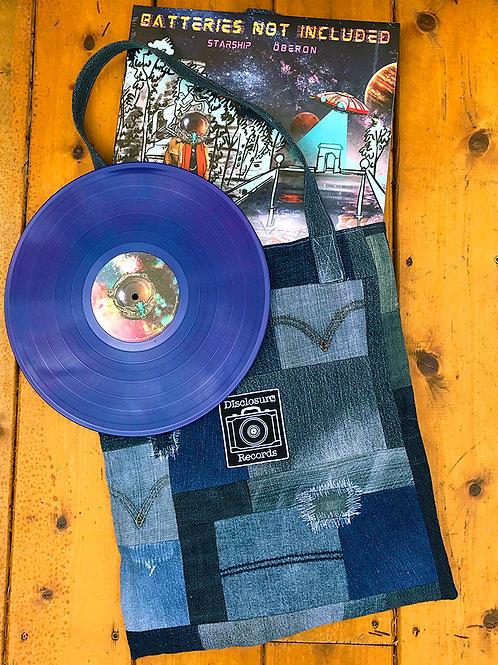 ReMined x Disclosure Records Custom Denim LP Totes